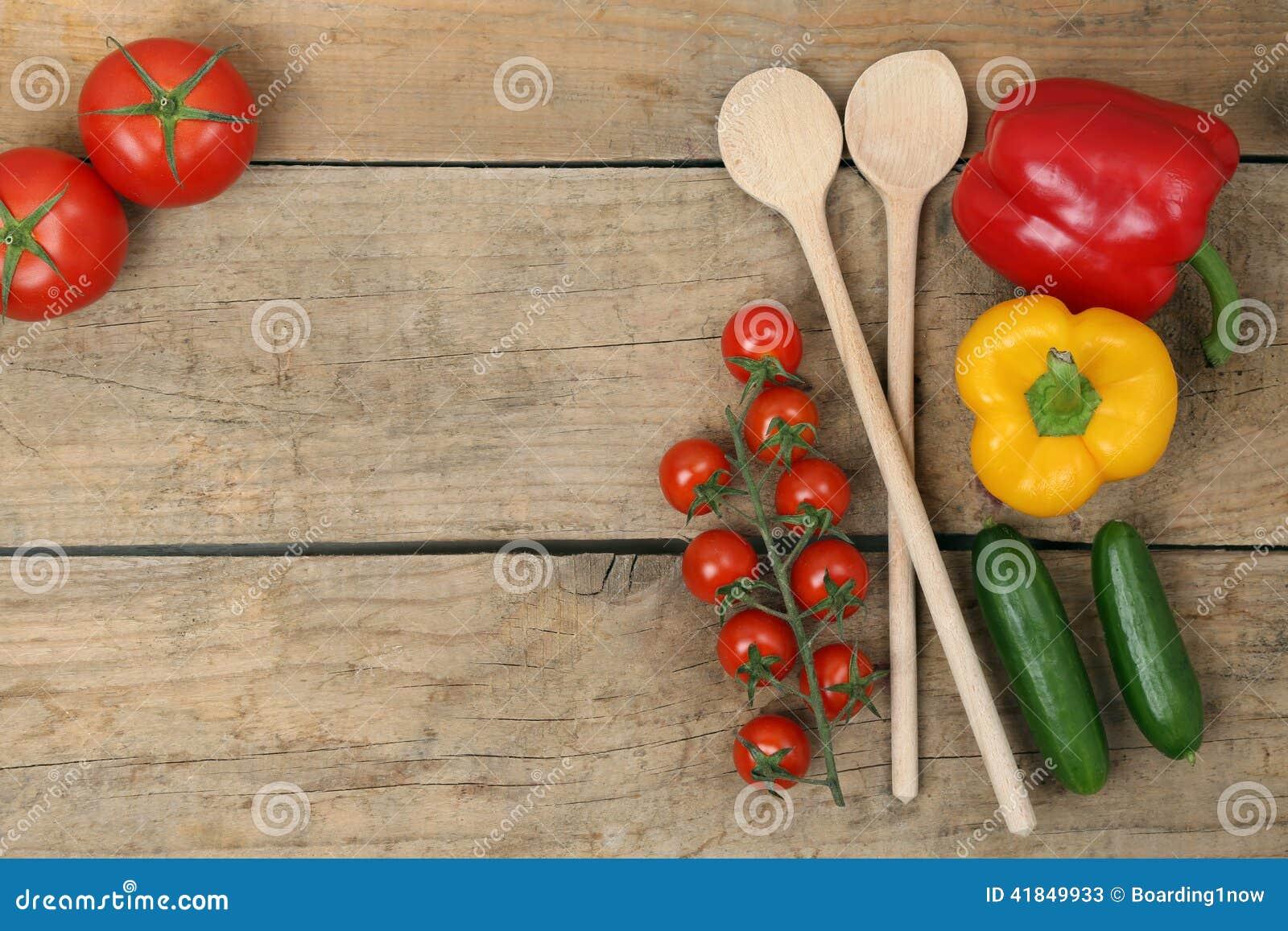 Cuisson saine avec des ingrédients de légumes frais