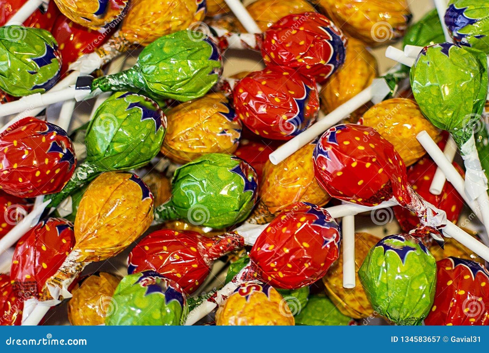 Cukierki barwiący cukierku tło