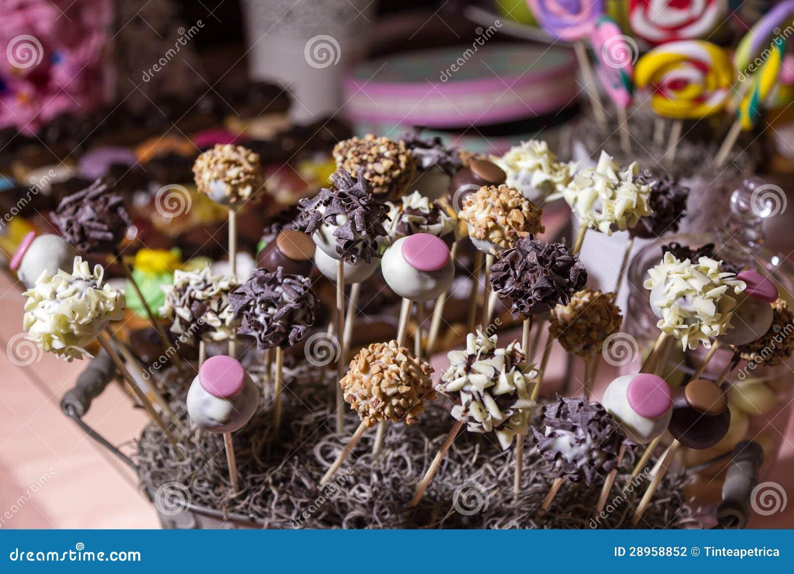 Cukierku bufet i pustynia stół