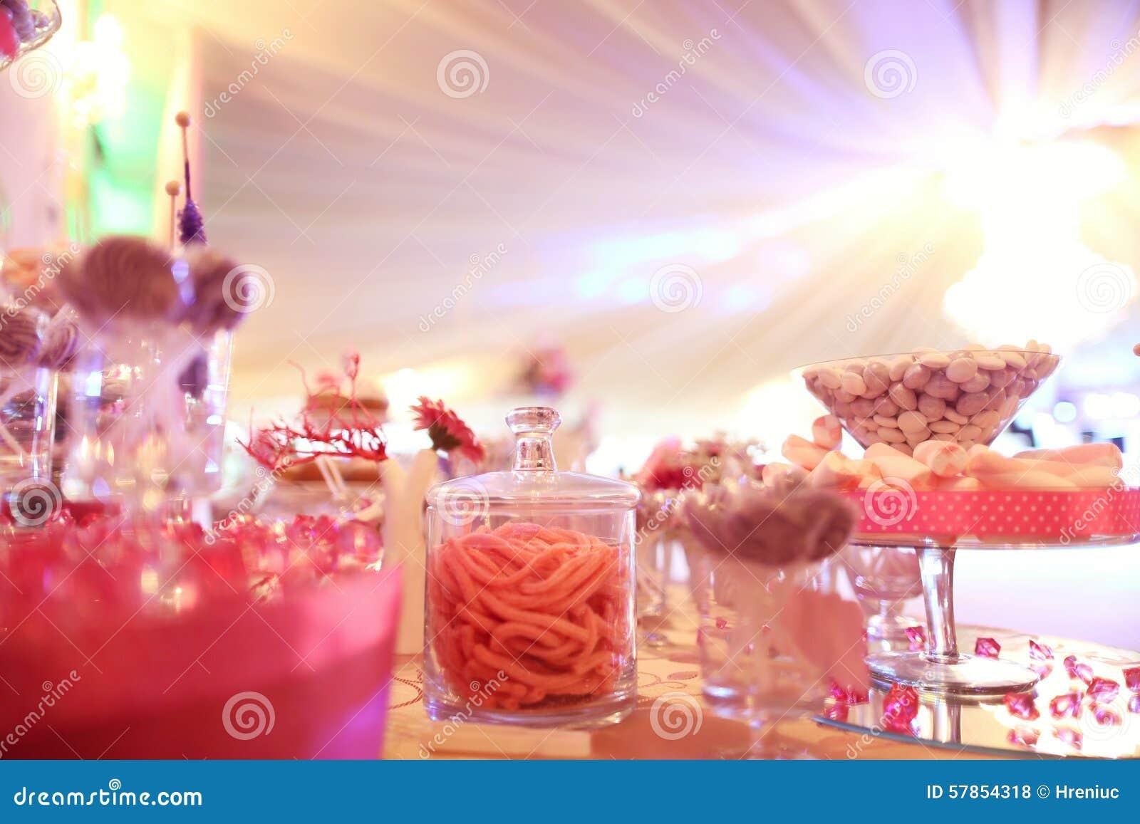 Cukierku bufet na stole