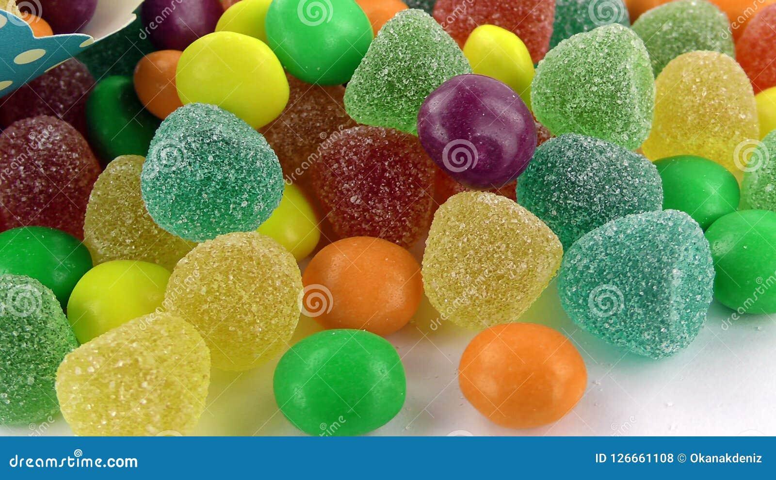 Cukierku cukierki galarety Lolly i Wyśmienicie Cukrowy deser Zdjęcia Royalty Free