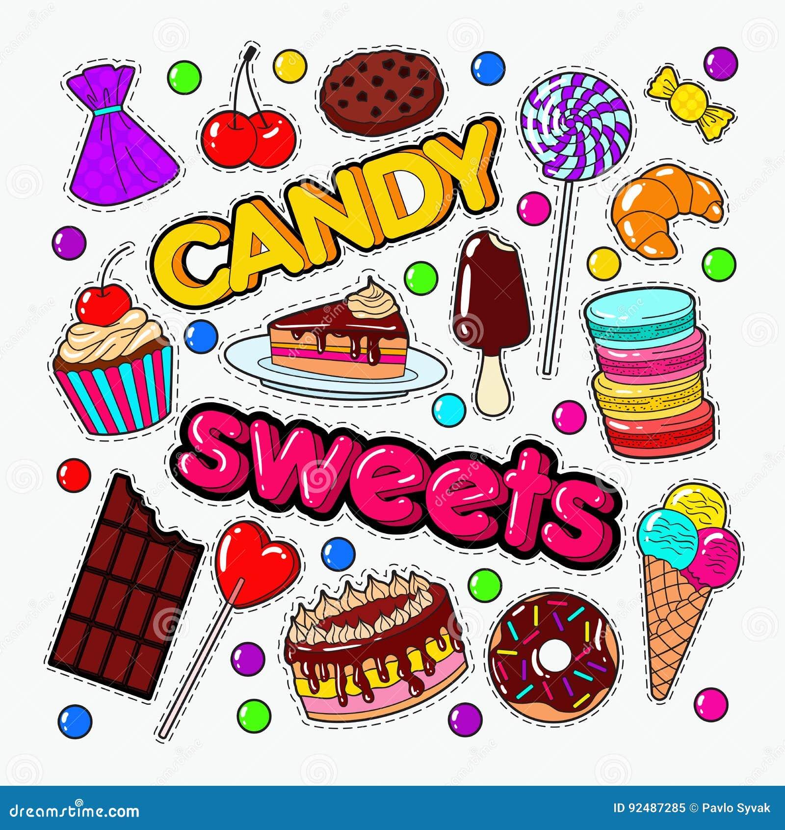 Cukierku i cukierki Karmowy Doodle z