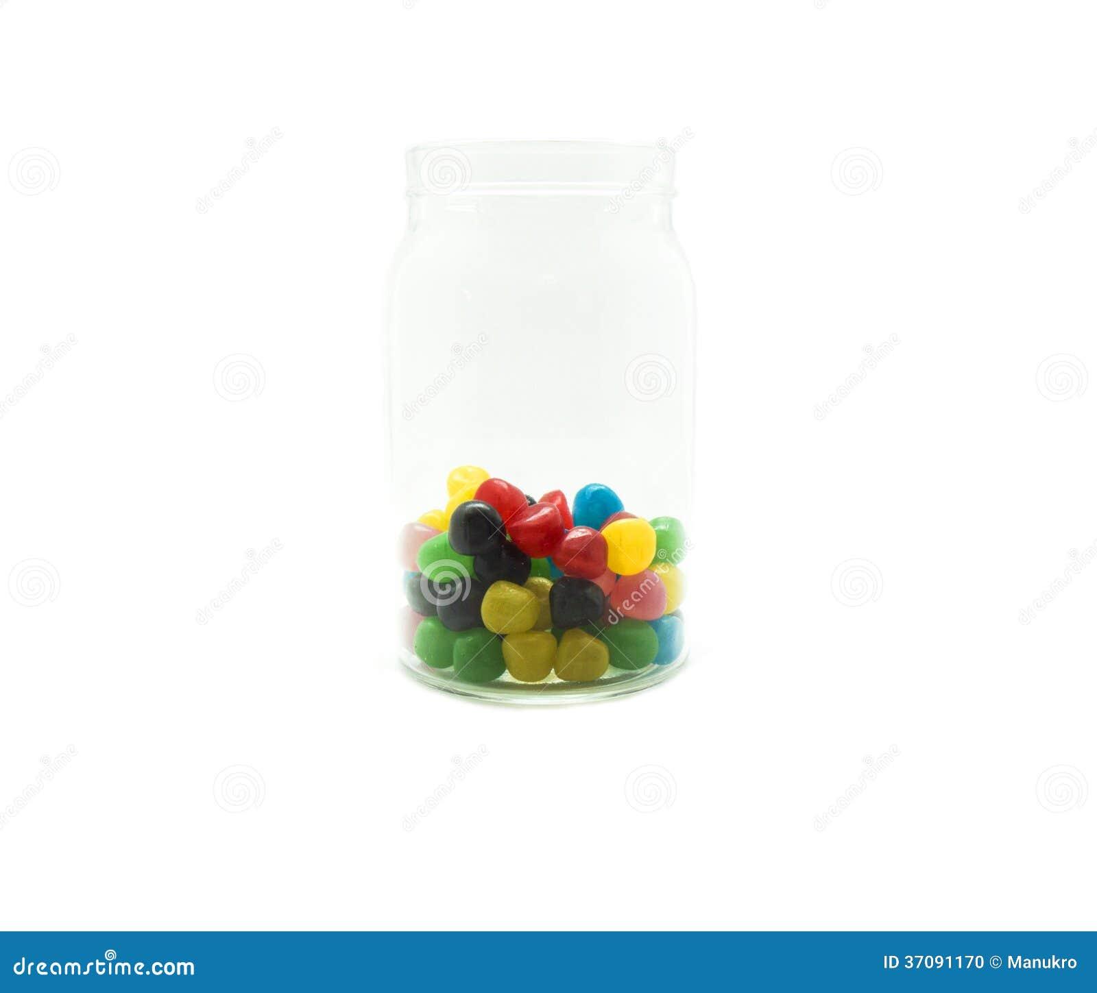 Download Cukierku Słój Na Białym Tle Zdjęcie Stock - Obraz złożonej z tylko, cukierek: 37091170
