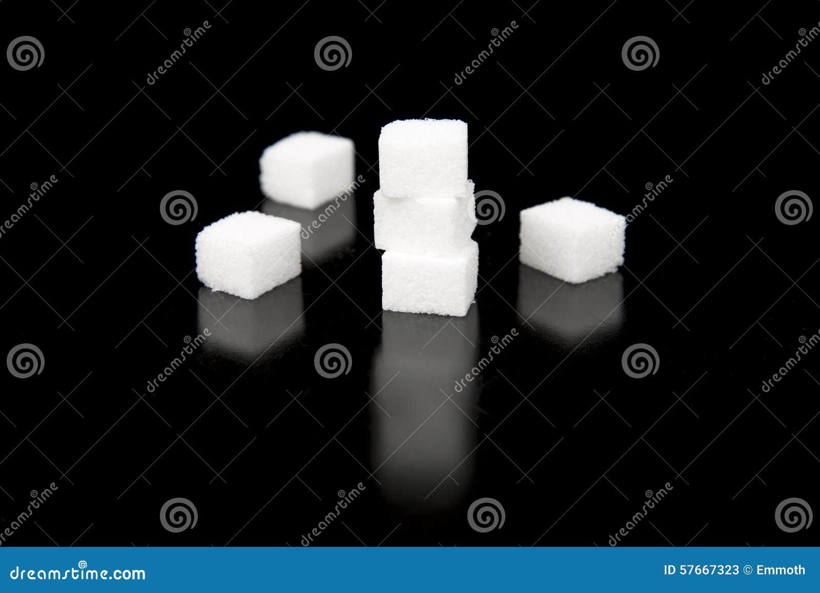 Cukrowi sześciany z Czarnym tłem