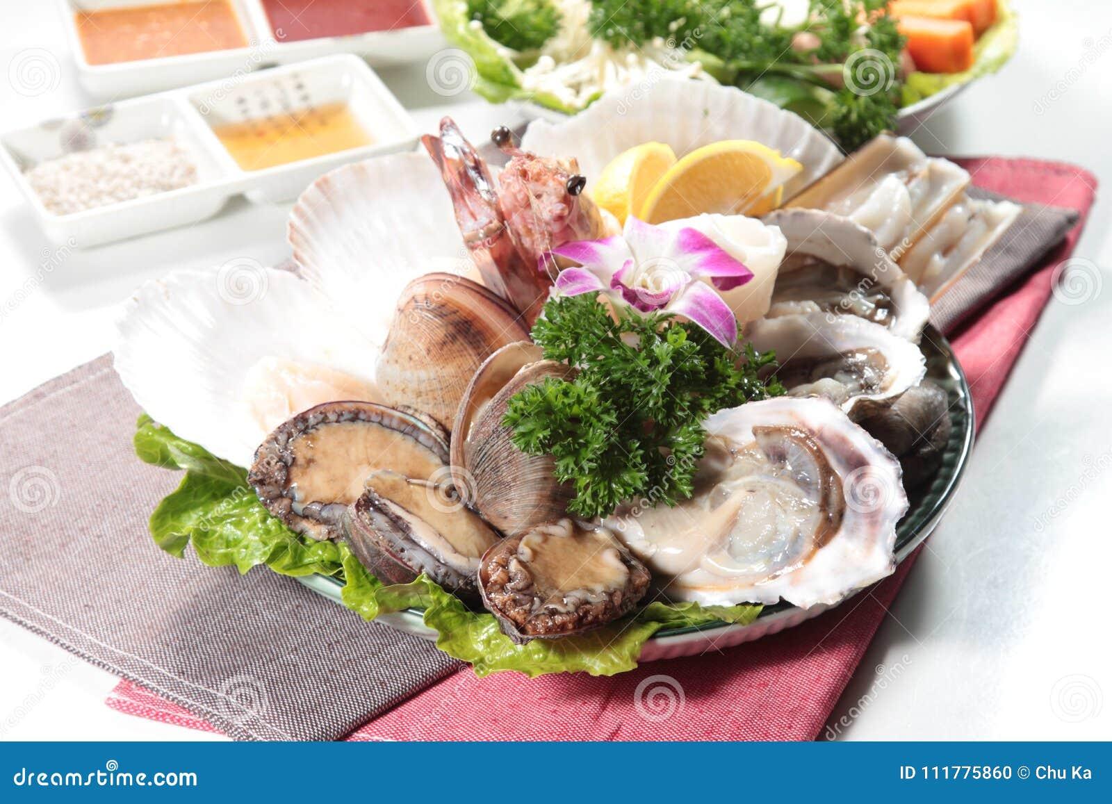 Culinária fresca e saboroso do marisco