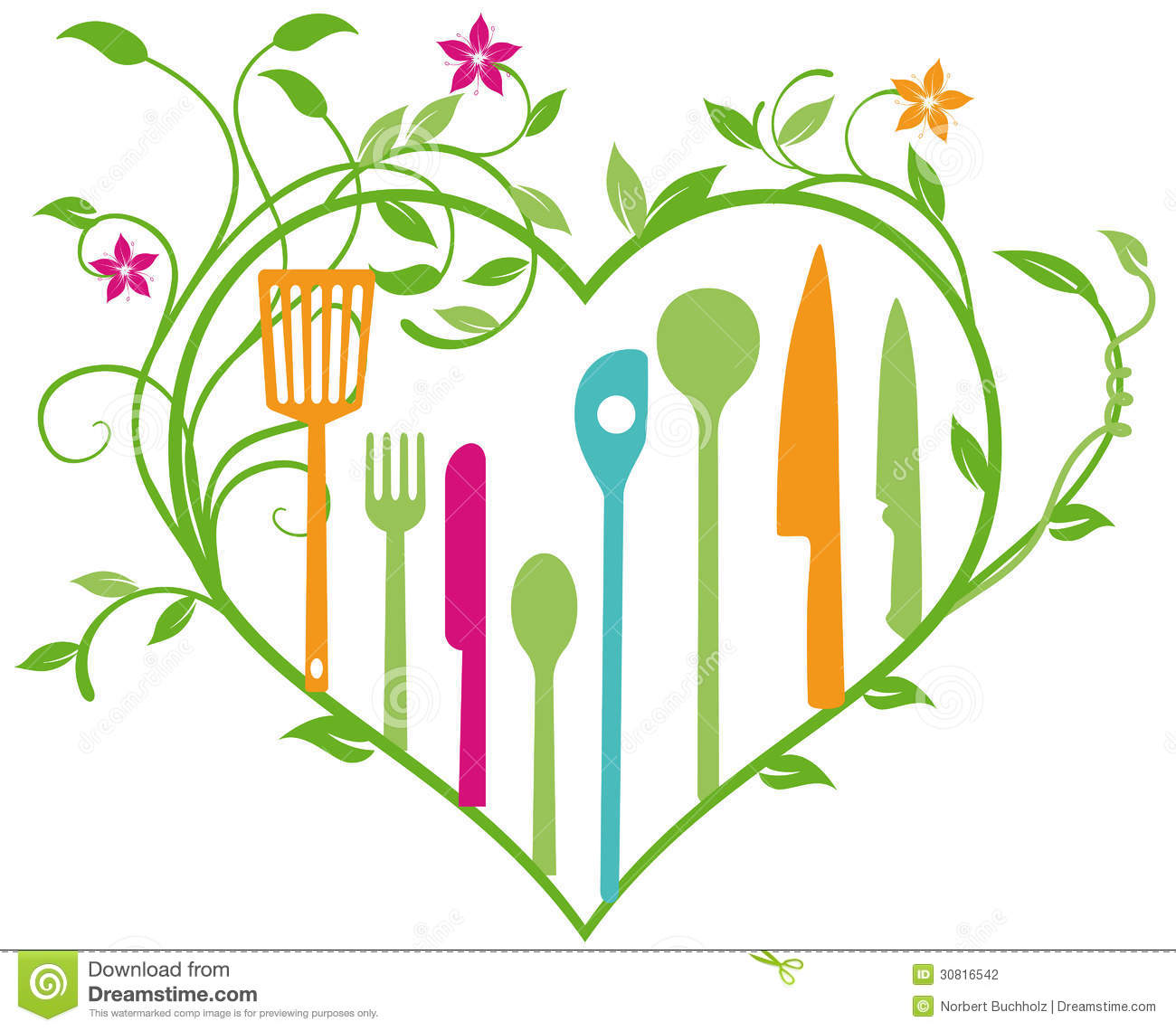 Culinary Utensils Stock Vector Illustration Of Color