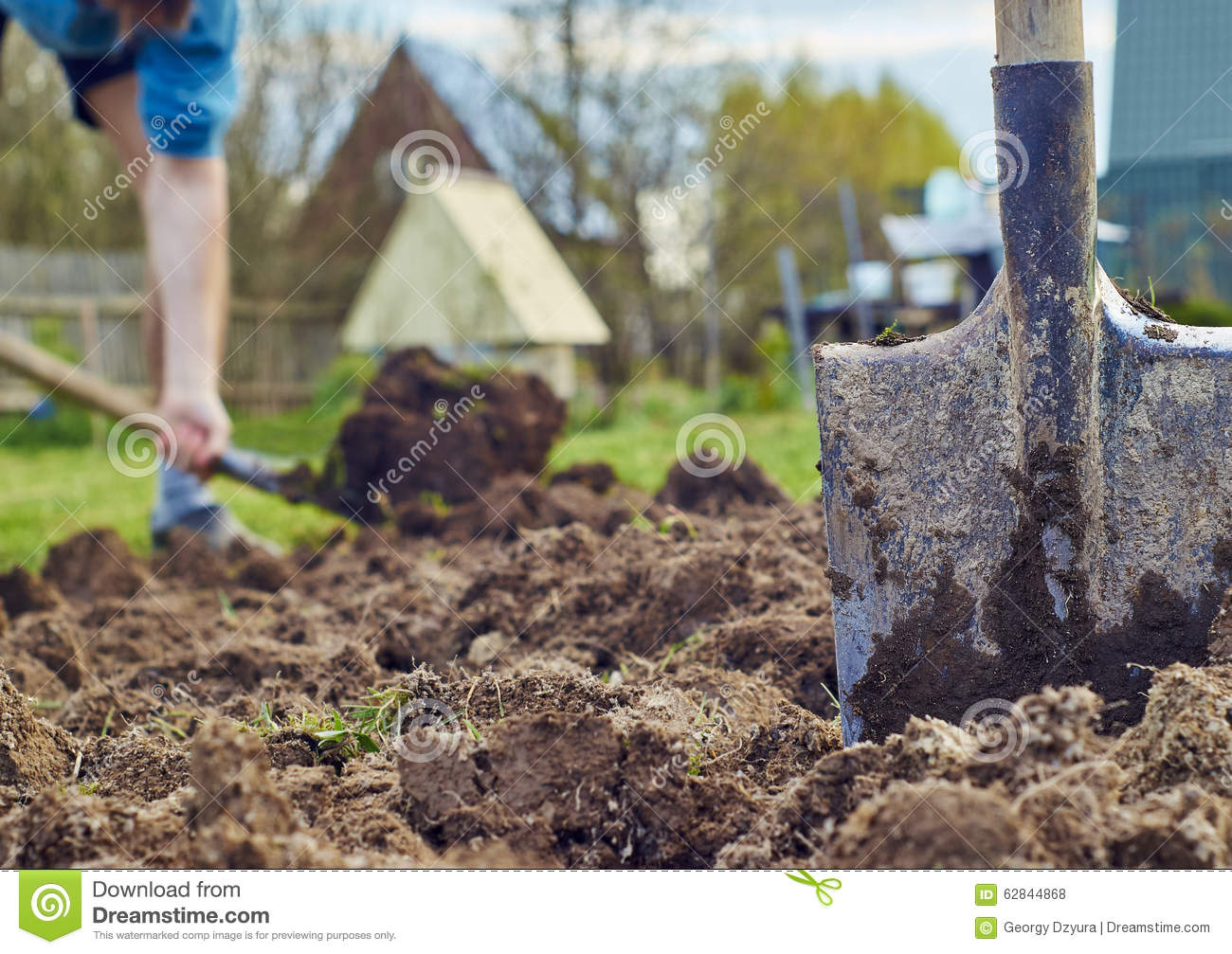 Cultivation of the garden beds for Digging ground dream meaning