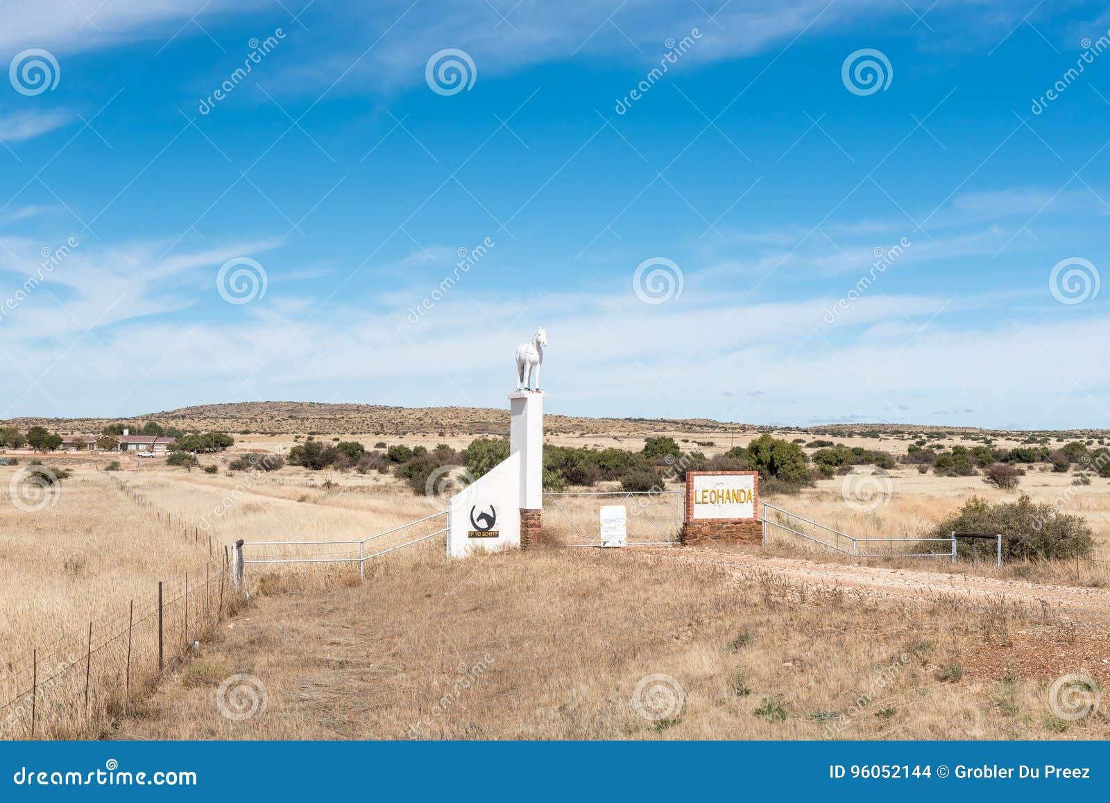 Cultivez la scène sur la route N8 entre Griekwastad et Groblershoop