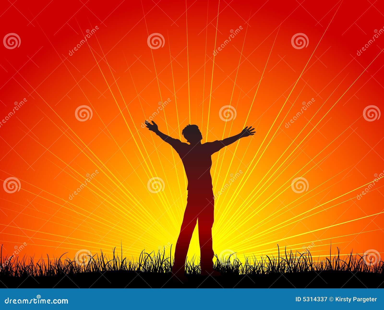 Download Culto illustrazione di stock. Illustrazione di uomo, tramonto - 5314337
