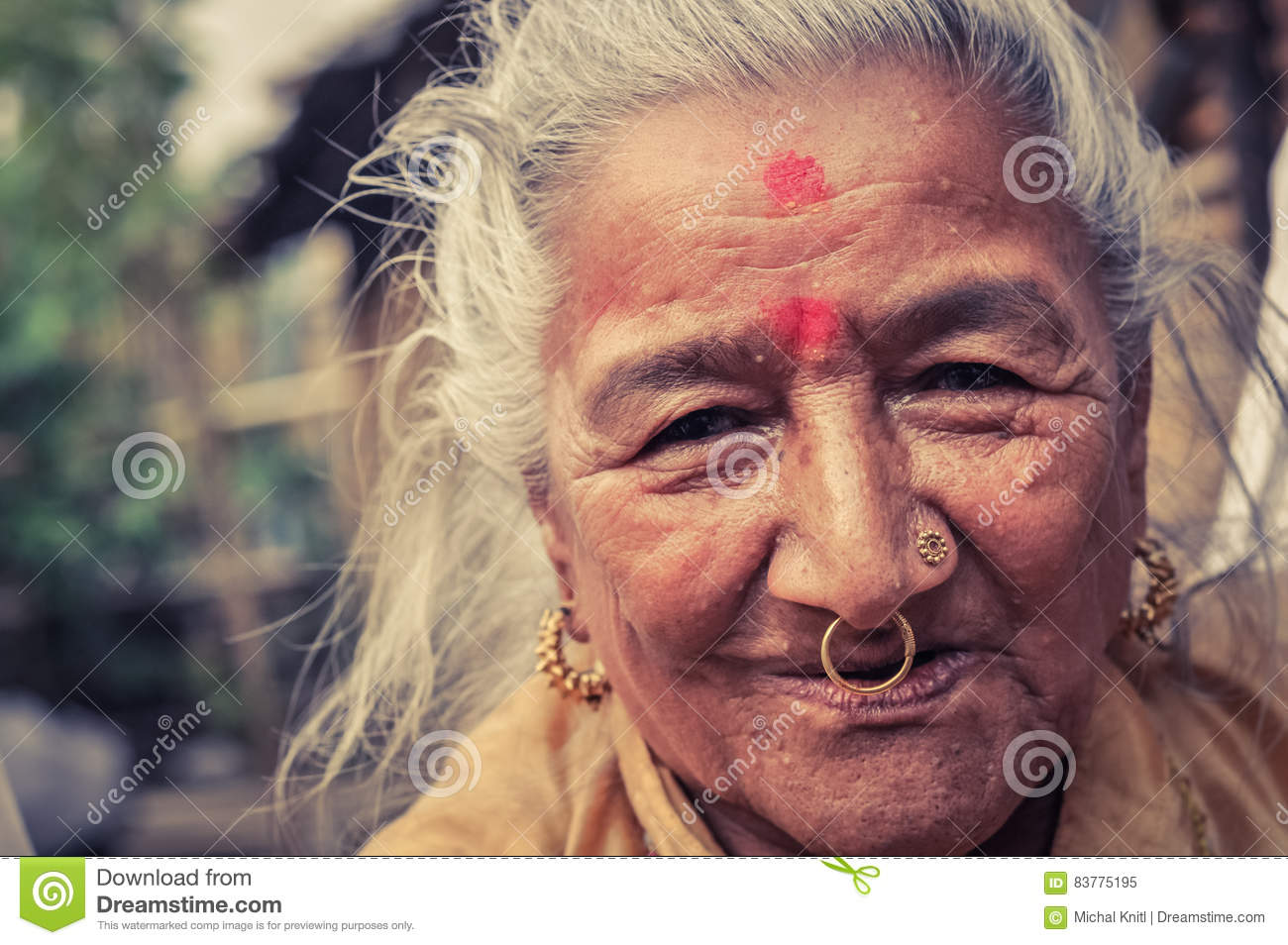 Cultural Face In Nepal Editorial Image Image Of Adult 83775195