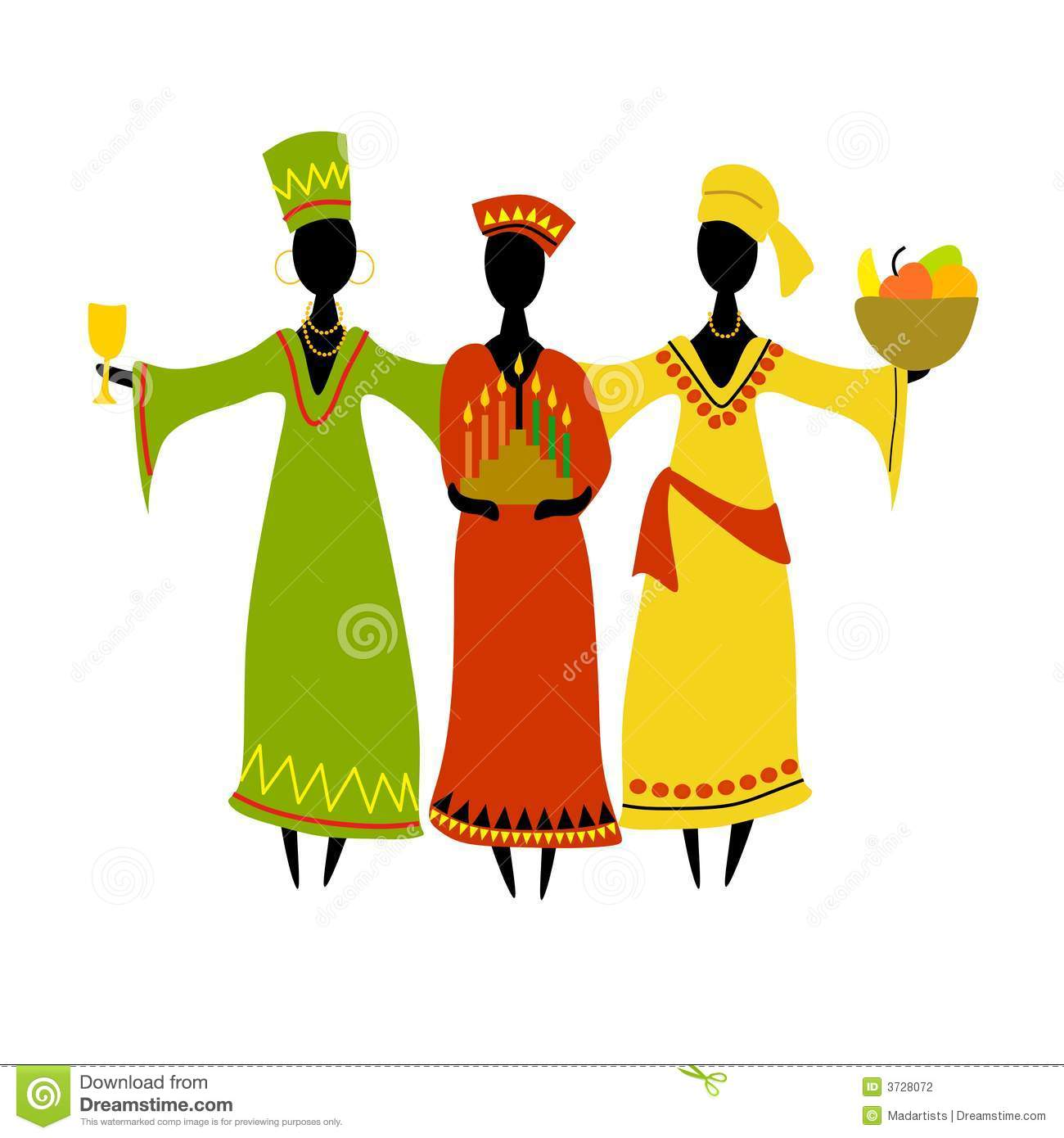 cultural kwanzaa celebration isolated stock illustration rh dreamstime com kwanzaa clip art black white happy kwanzaa clip art
