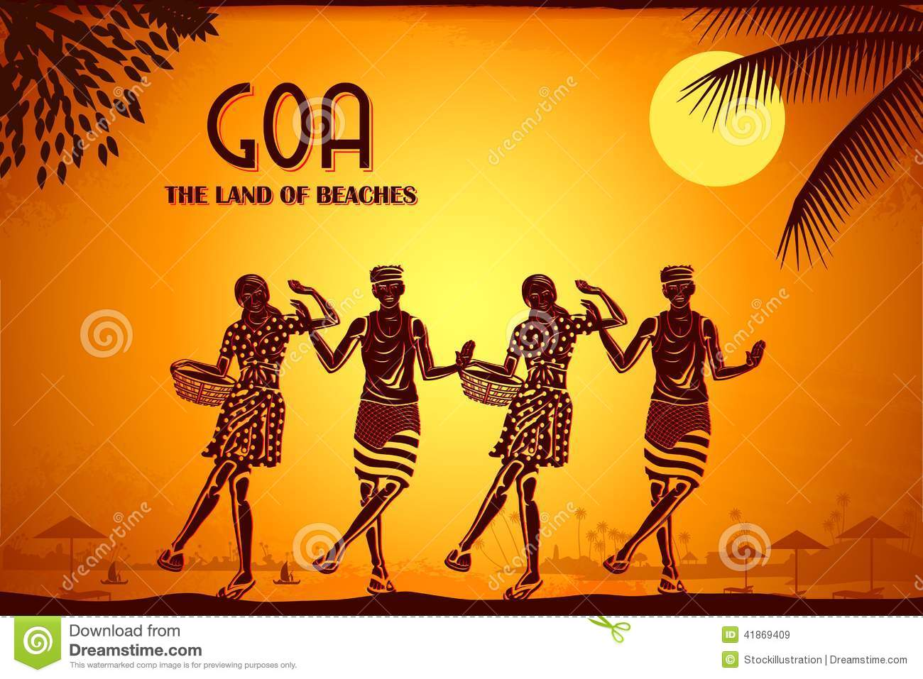 Culture Of Goa Stock Illustration Image 41869409