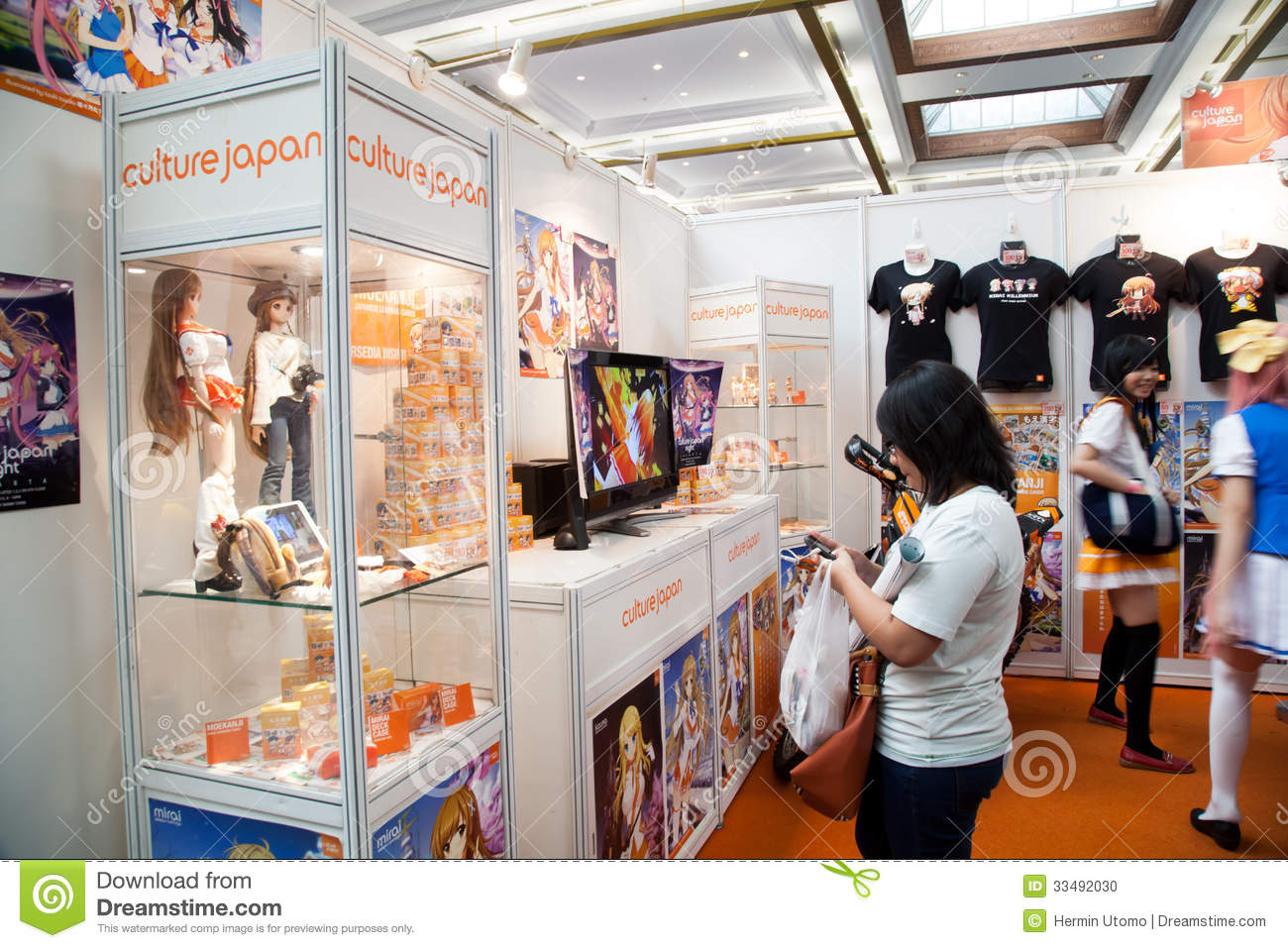 Anime Expo Stands : Culture japan stand in anime festival asia indonesia