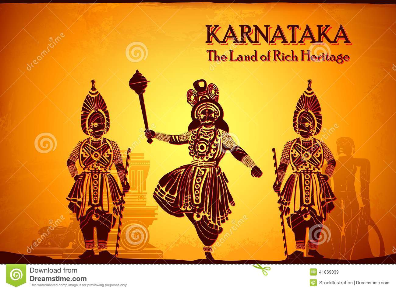 Culture Of Karnataka Stock Illustration  Image: 41869039