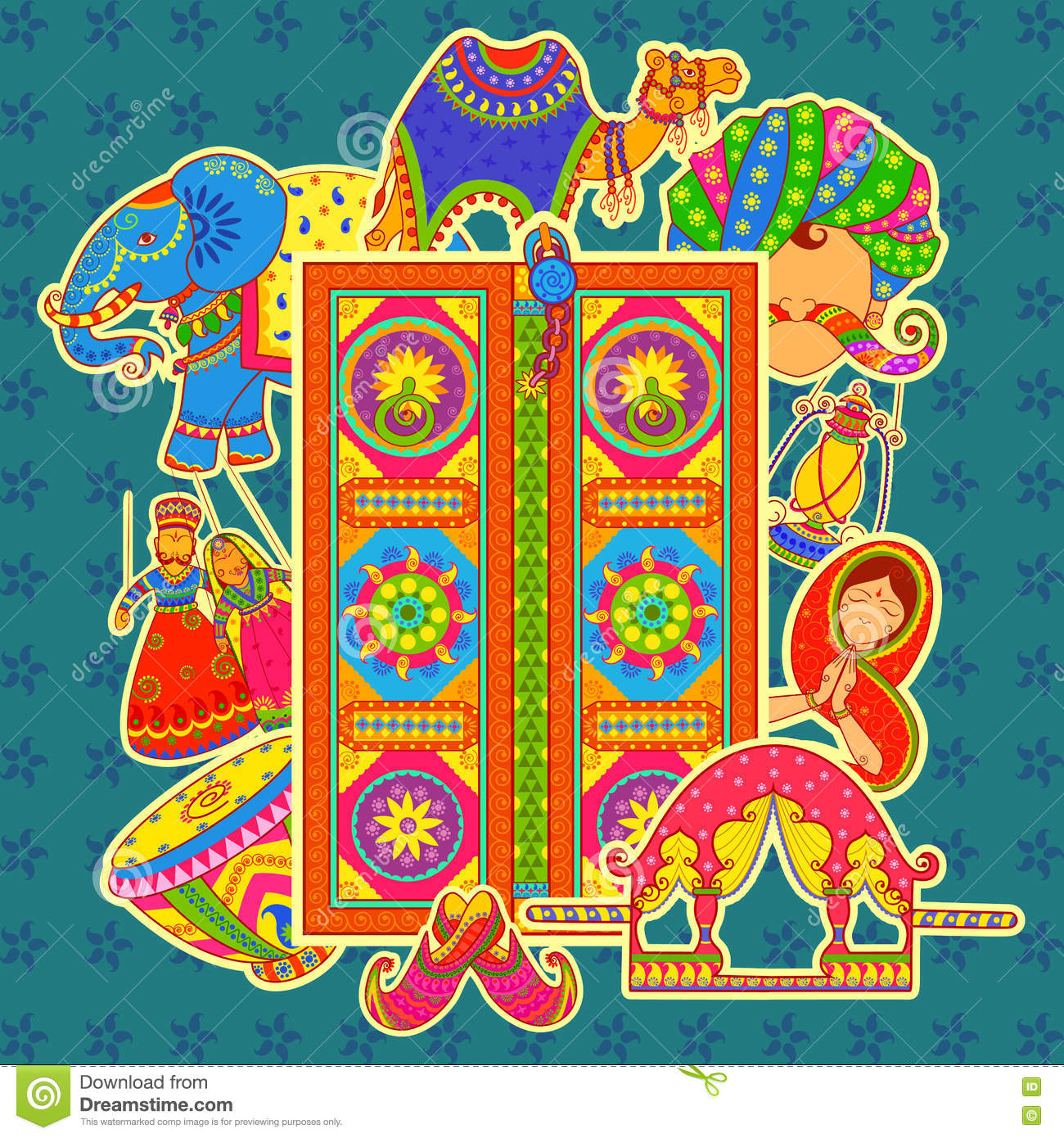 Indian Home Decor Ideas That Reflect Indian Culture: Rajasthan Cartoons, Illustrations & Vector Stock Images