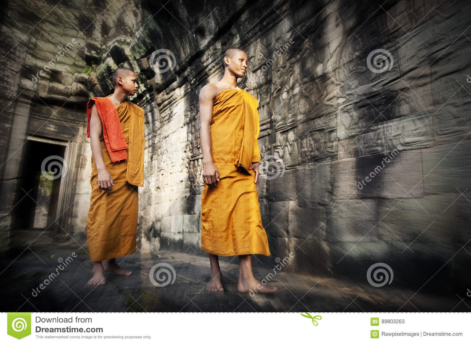 Cultuur die Monnik Buddhism Traditional Concept overwegen