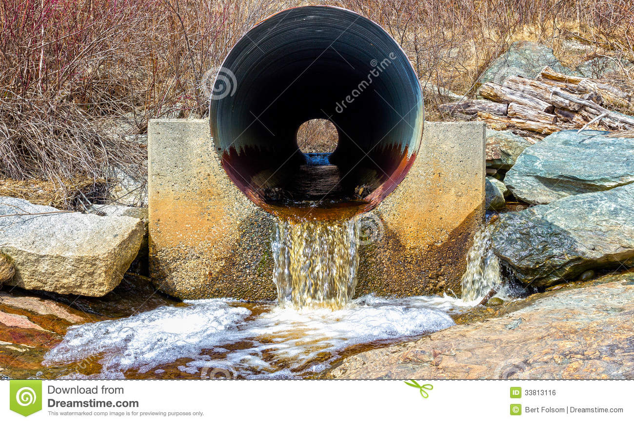 Culvert With Water Runoff Royalty Free Stock Image Image