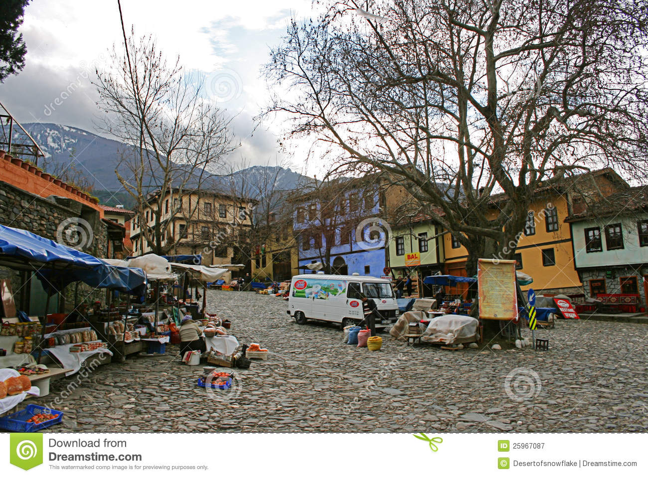 Bursa Turkey  City new picture : Cumalikizik Village In Bursa, Turkey Editorial Photography Image ...