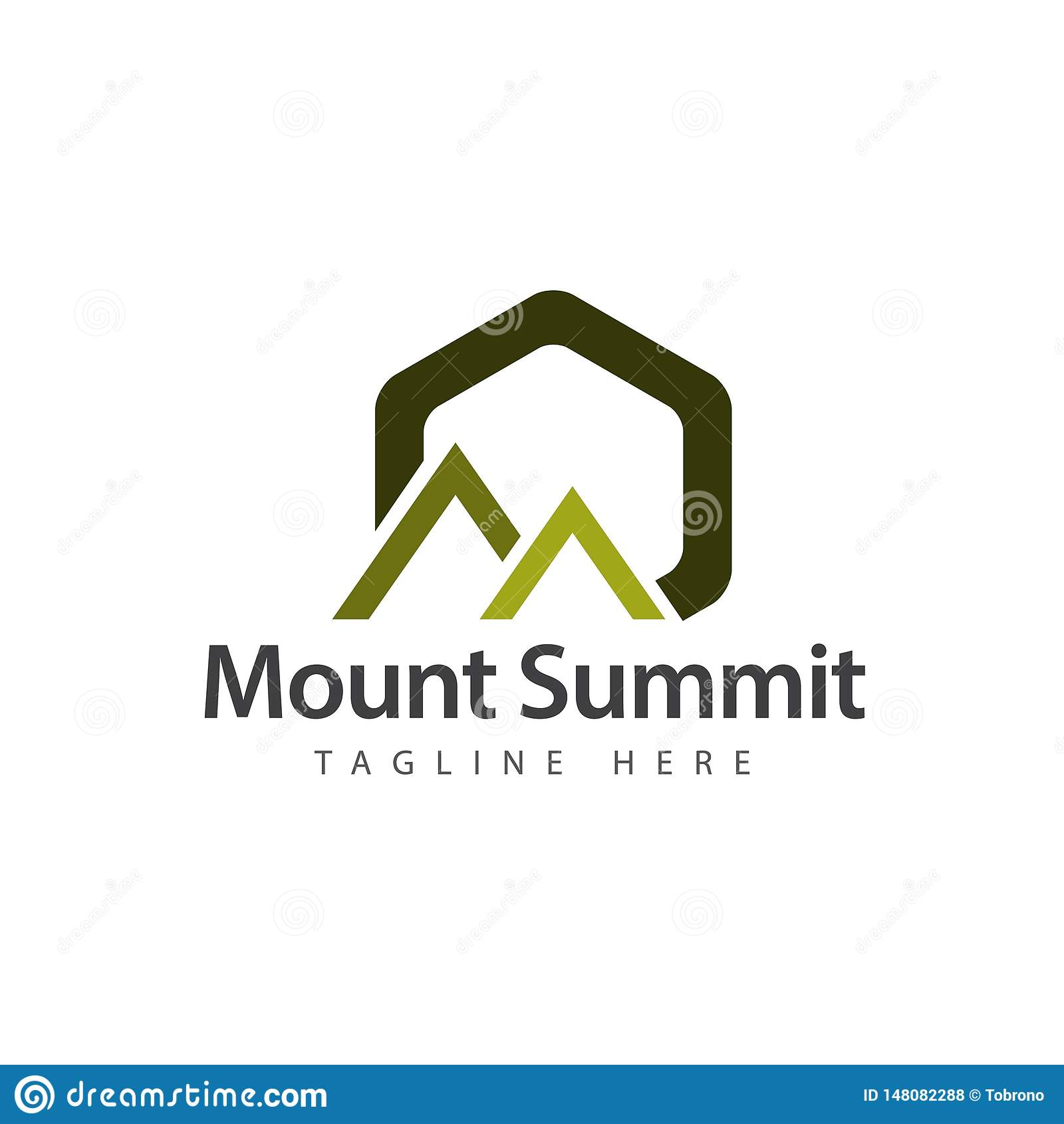Cumbre Logo Vector Template Design Illustration del soporte