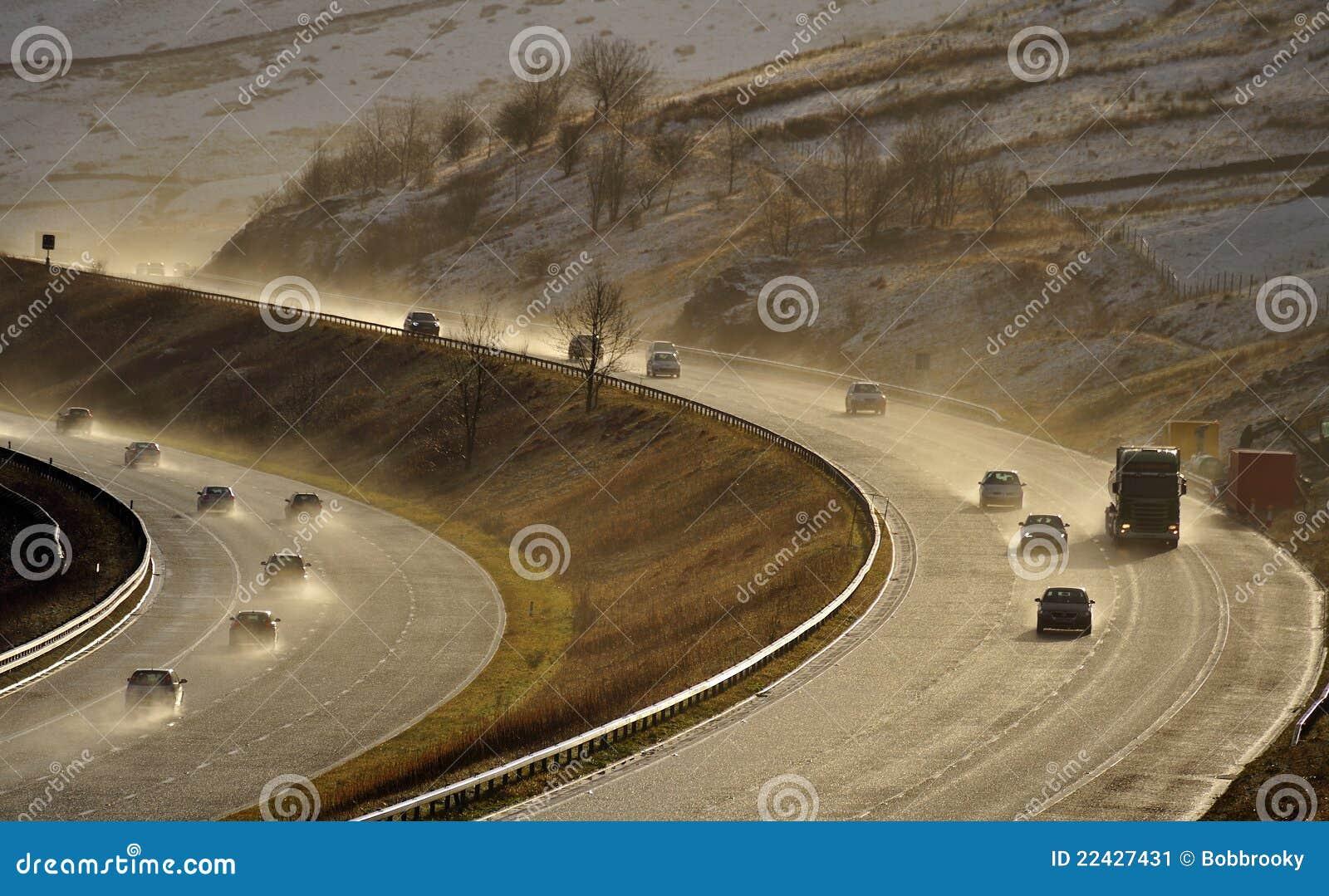 Cumbria m6 autostrady kiść uk