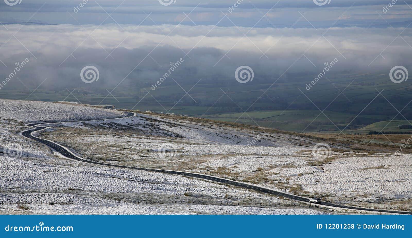 Cumbria Winter-Straße