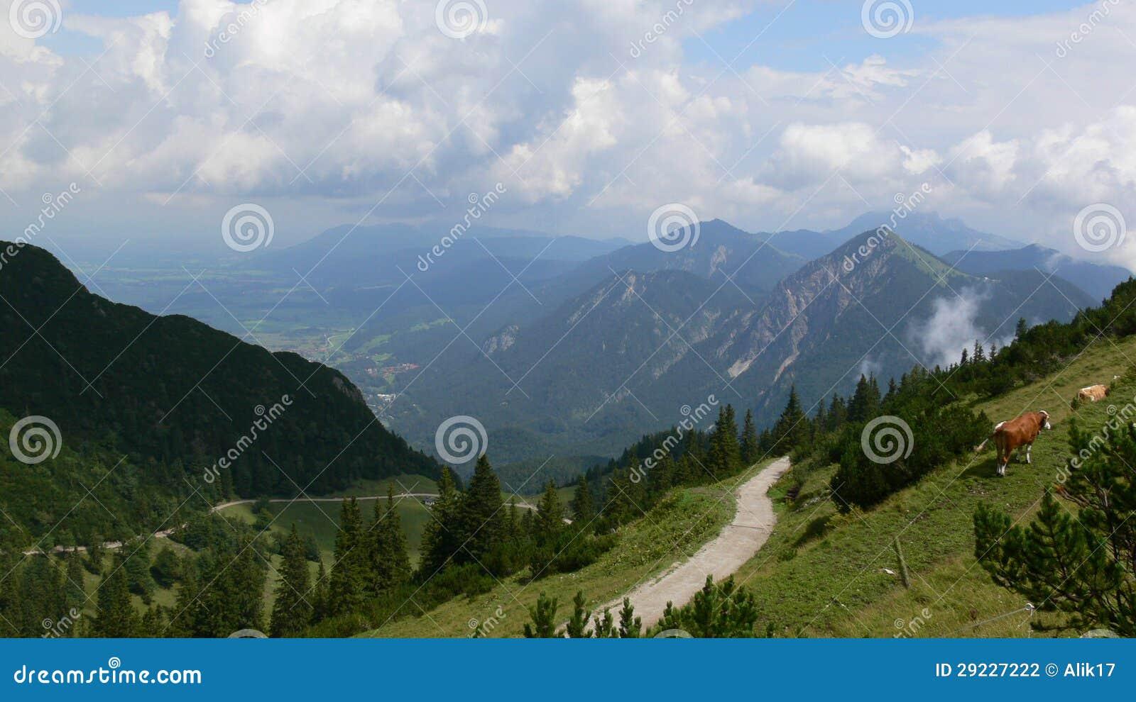 Download Cumes bávaros foto de stock. Imagem de árvores, nuvens - 29227222
