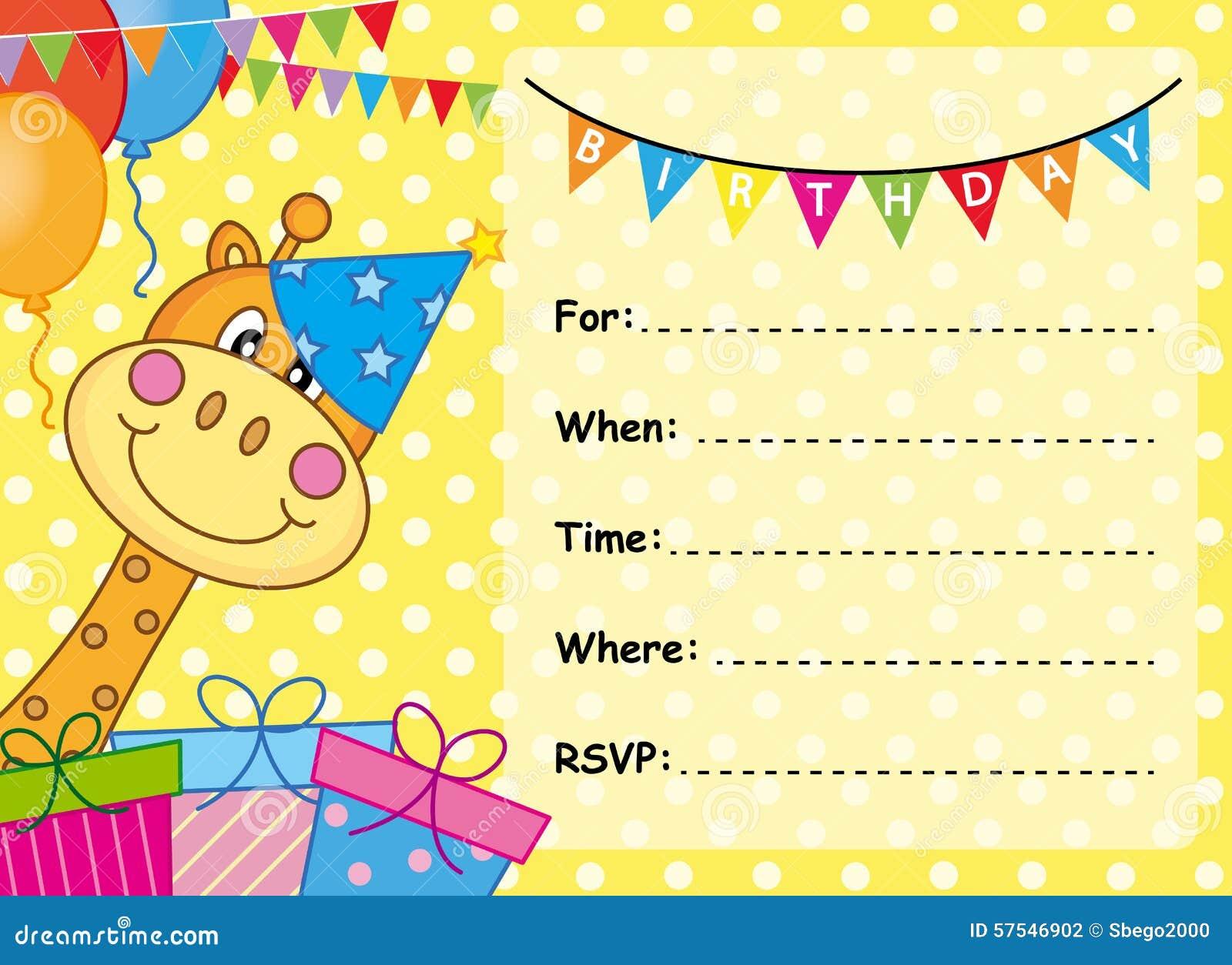 Cumpleaños De La Tarjeta De La Invitación Ilustración Del