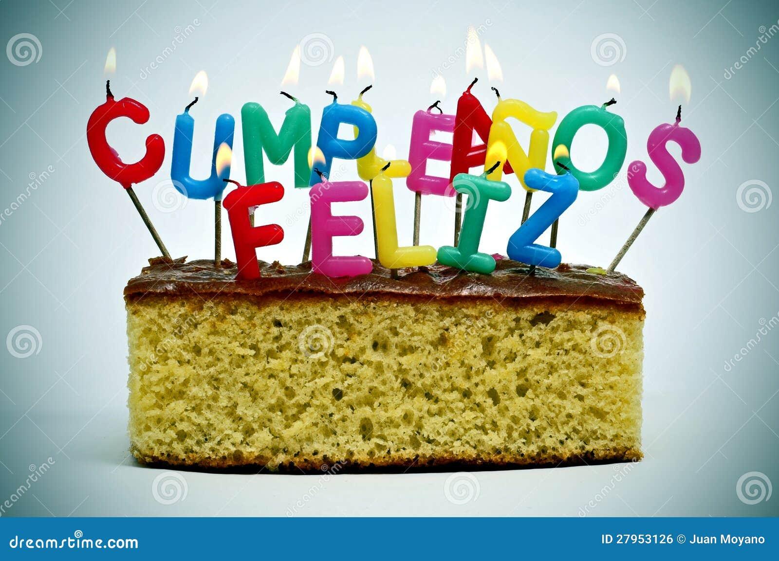 Cumpleanos feliz, alles Gute zum Geburtstag auf spanisch