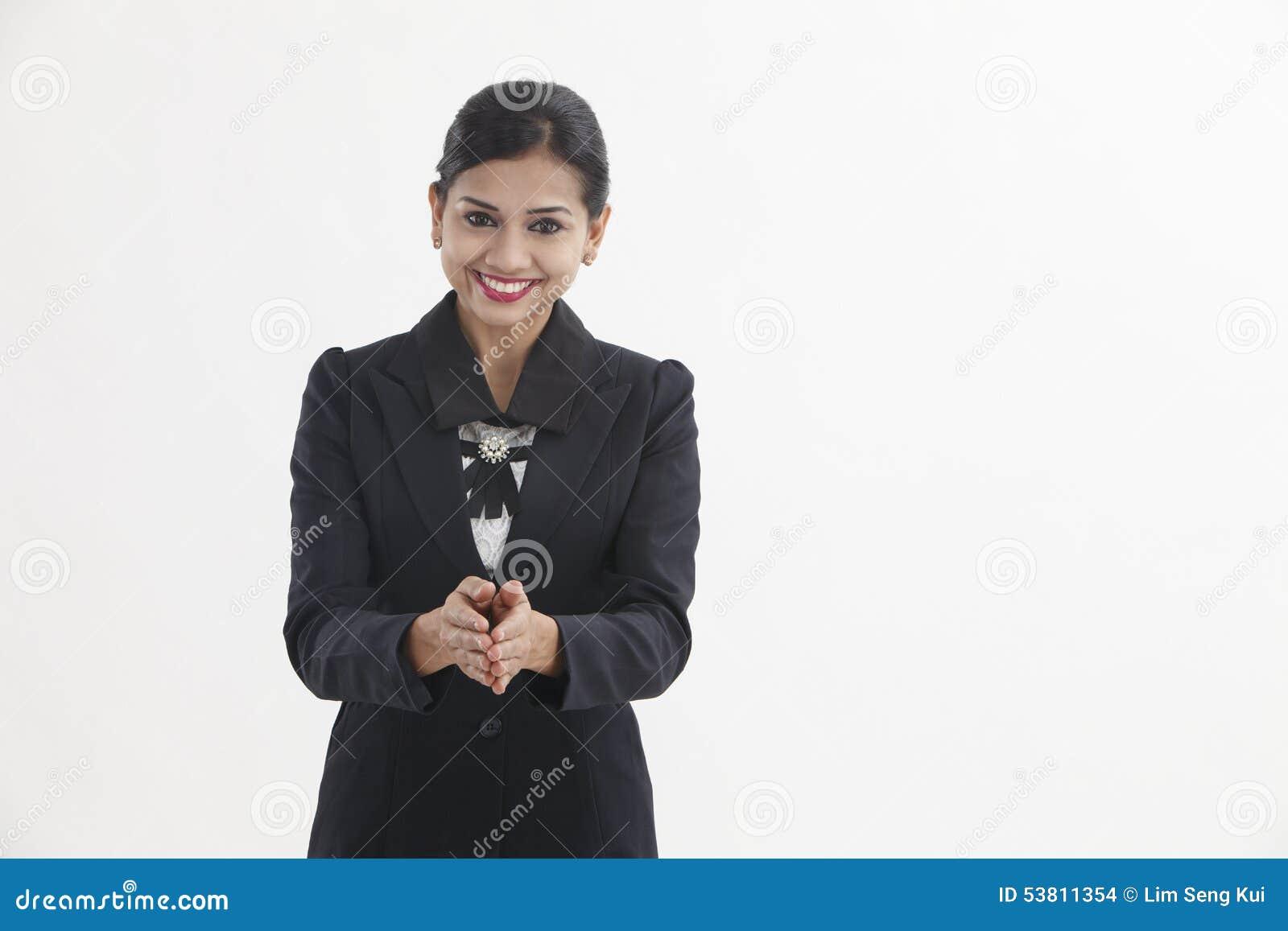 Imagens De Cumprimento: Cumprimento Da Mulher Foto De Stock