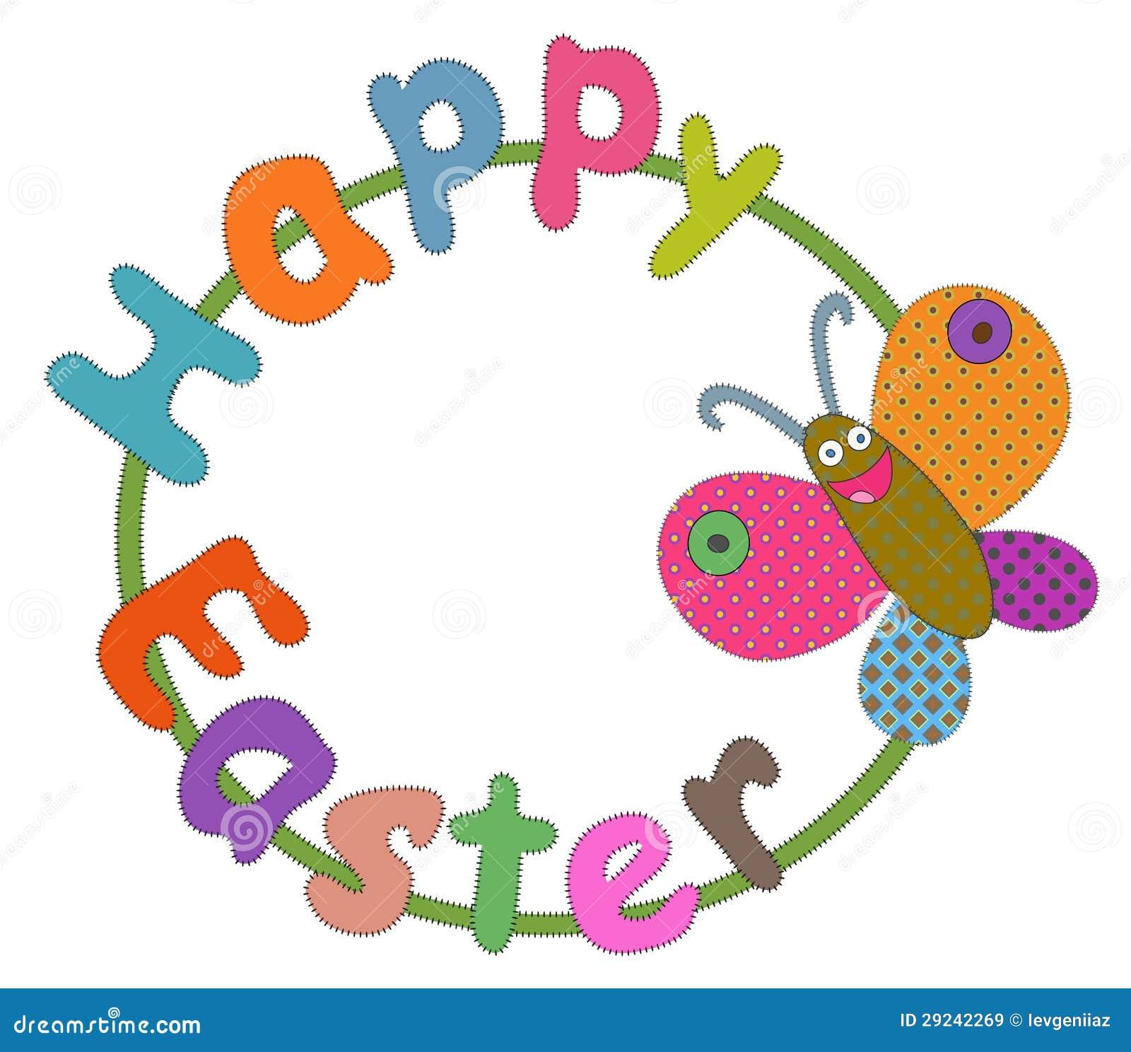 Download Cumprimento De Easter Com Borboleta Ilustração Stock - Ilustração de erro, ilustração: 29242269