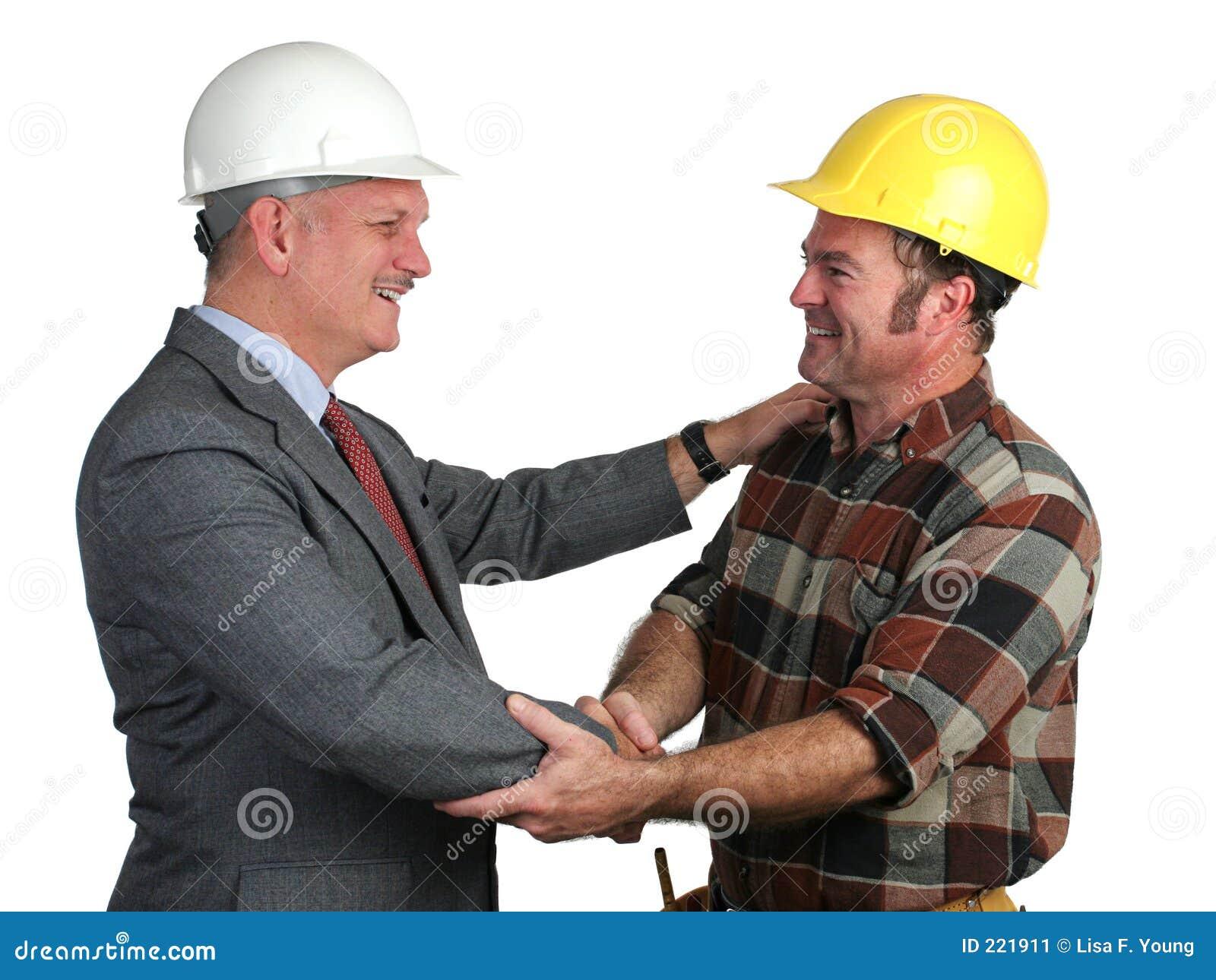 Imagens De Cumprimento: Cumprimento Do Local De Trabalho Imagem De Stock