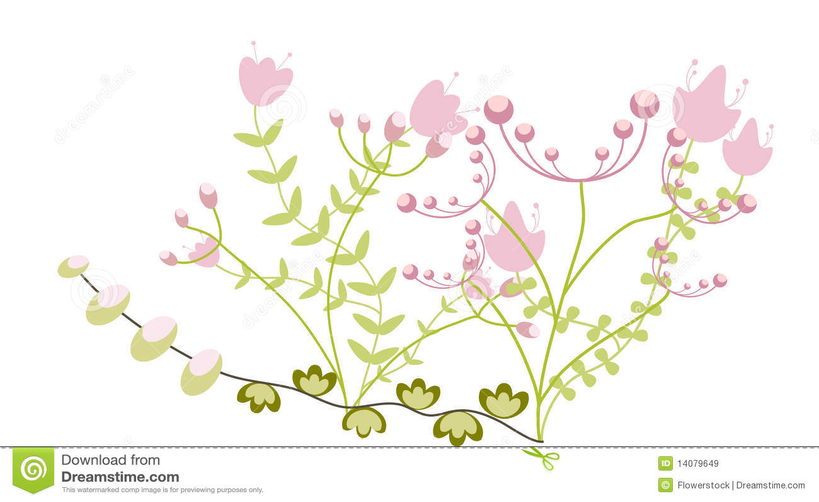 Imagens De Cumprimento: Cumprimento Floral Infantil Ilustração Stock
