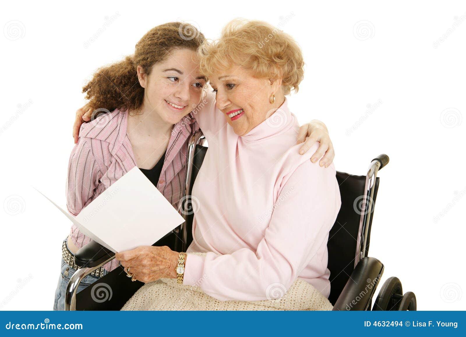 Cumprimento para a avó