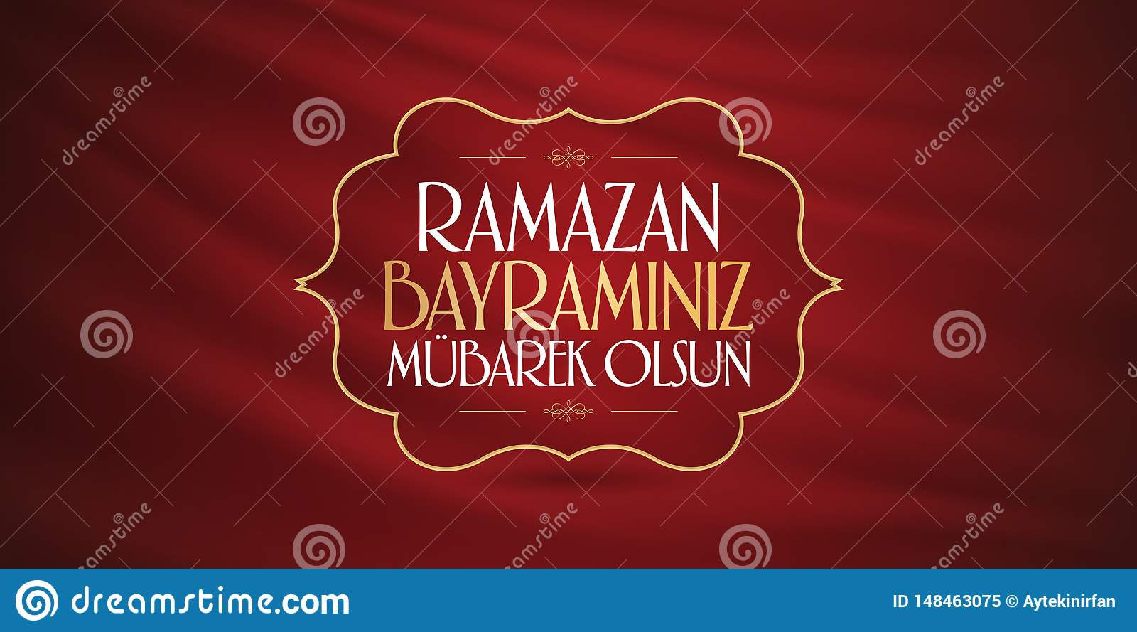 Cumprimentos de Eid al-Fitr Mubarak Islamic Feast turcos: M?s de Ramazan Bayraminiz Mubarek Olsun Holy da comunidade mu?ulmana Ra