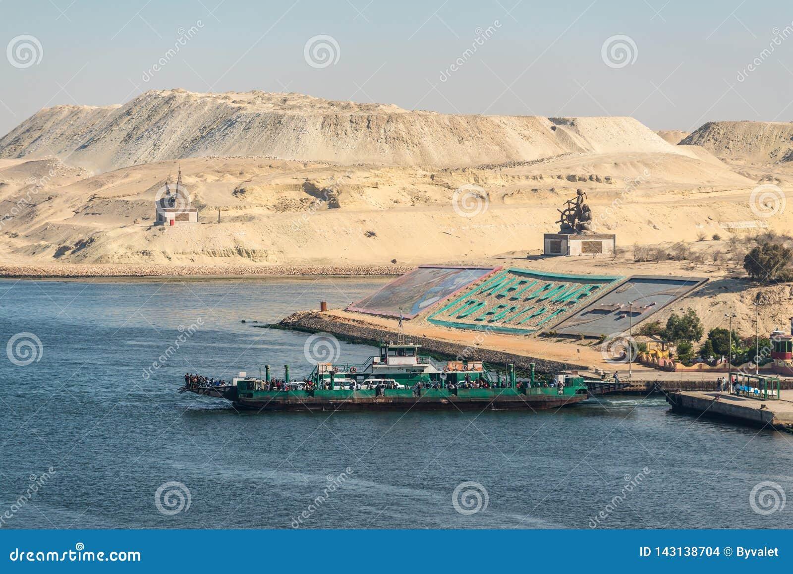 Cumprimentos em Egito no canal de Suez novo em Ismailia, Egito