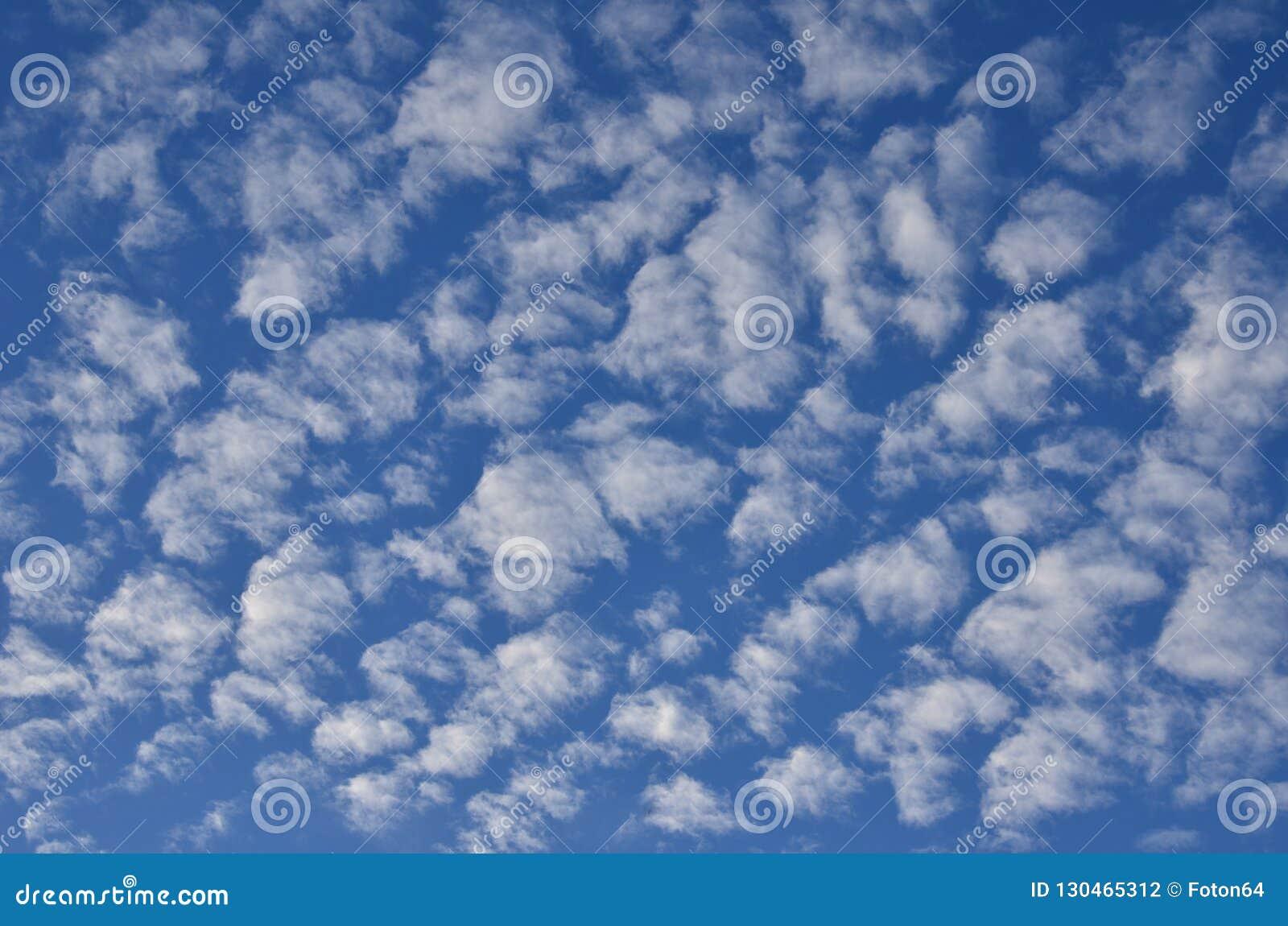 Cumulus sur le ciel bleu