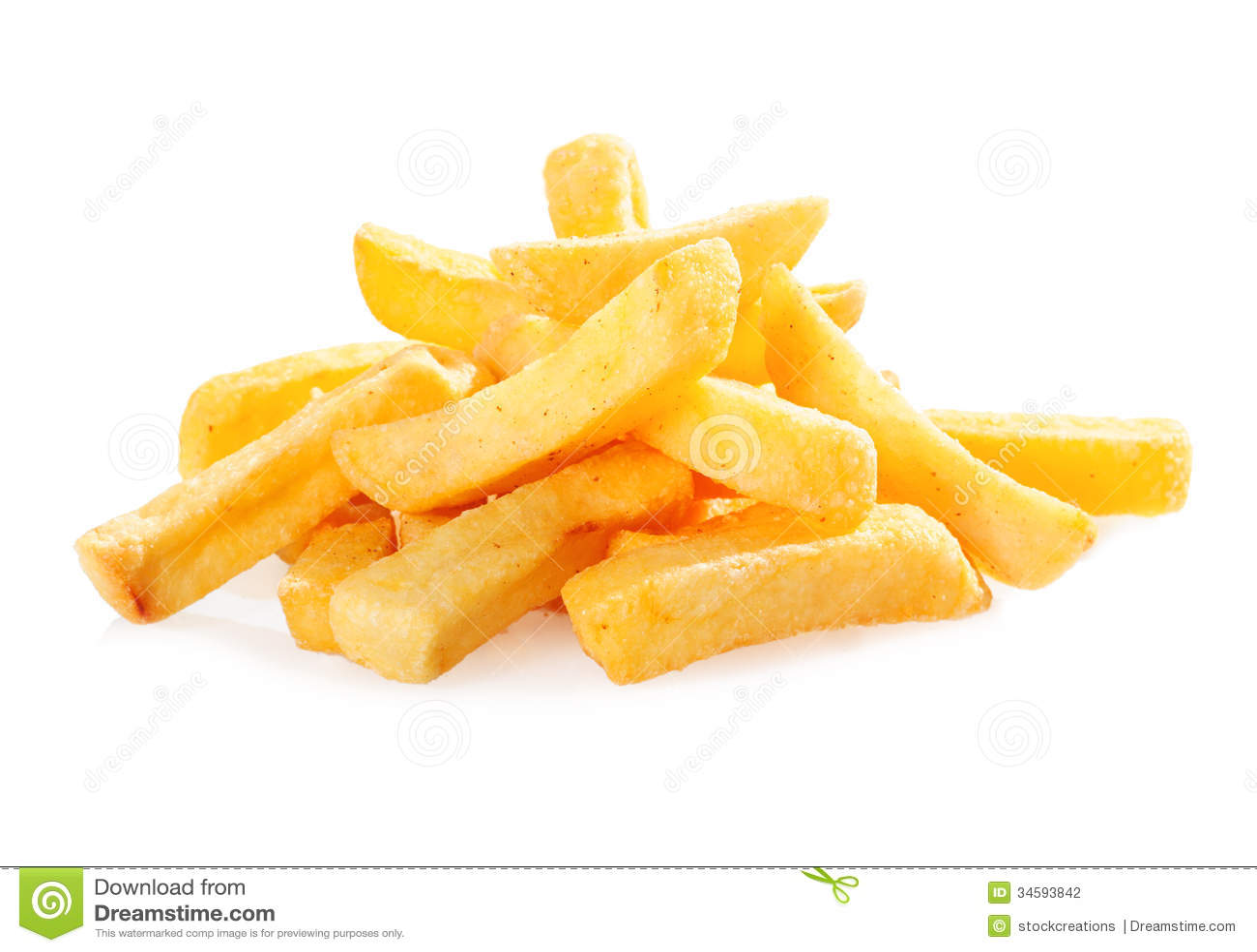 Cunhas fritadas da batata