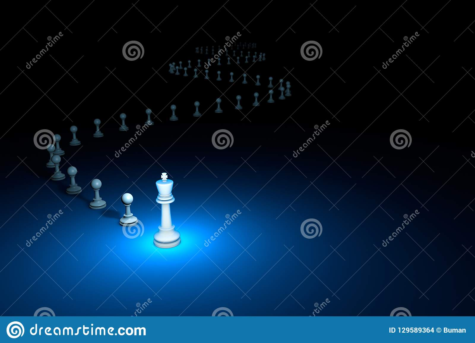 Flexible Policy chess metaphor. 3D render illustration. Free s