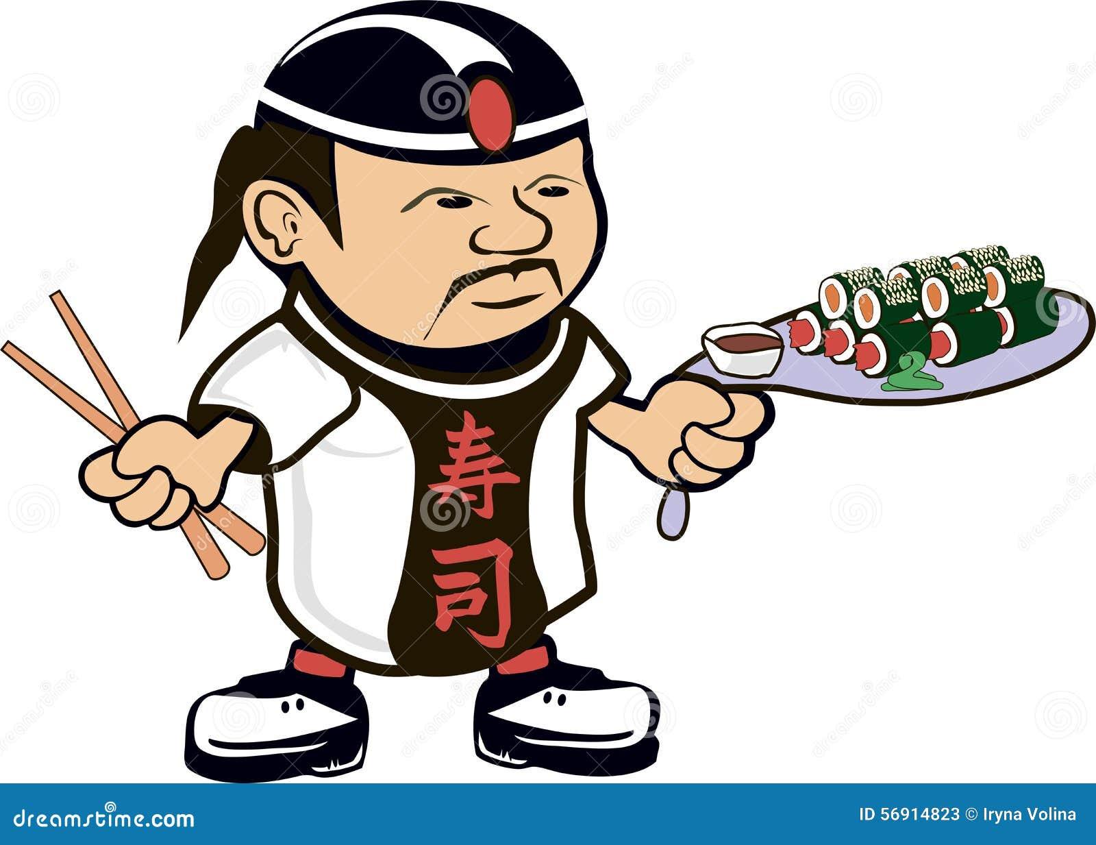 Cuoco asiatico del cuoco unico