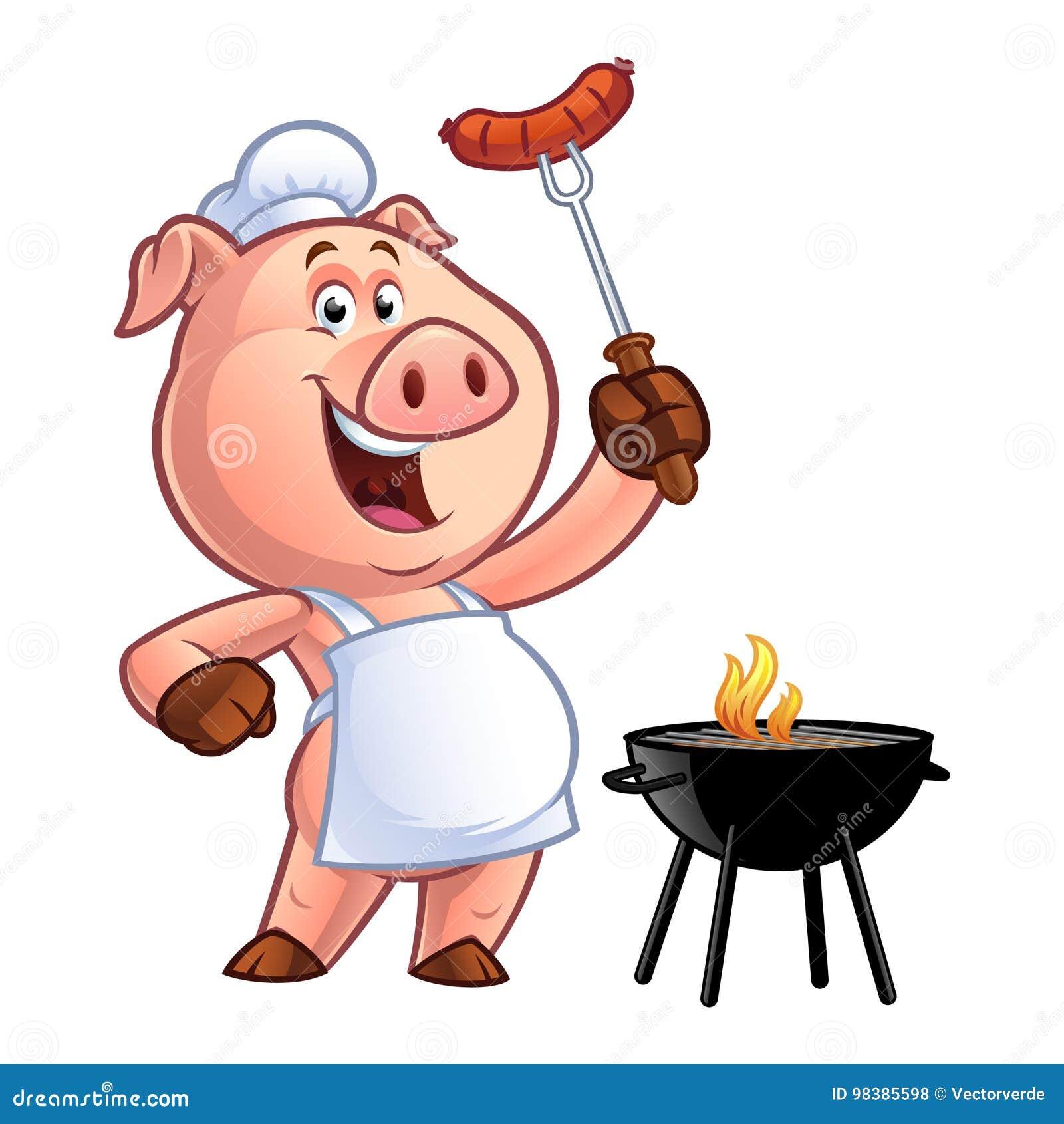 Cuoco unico del maiale del fumetto