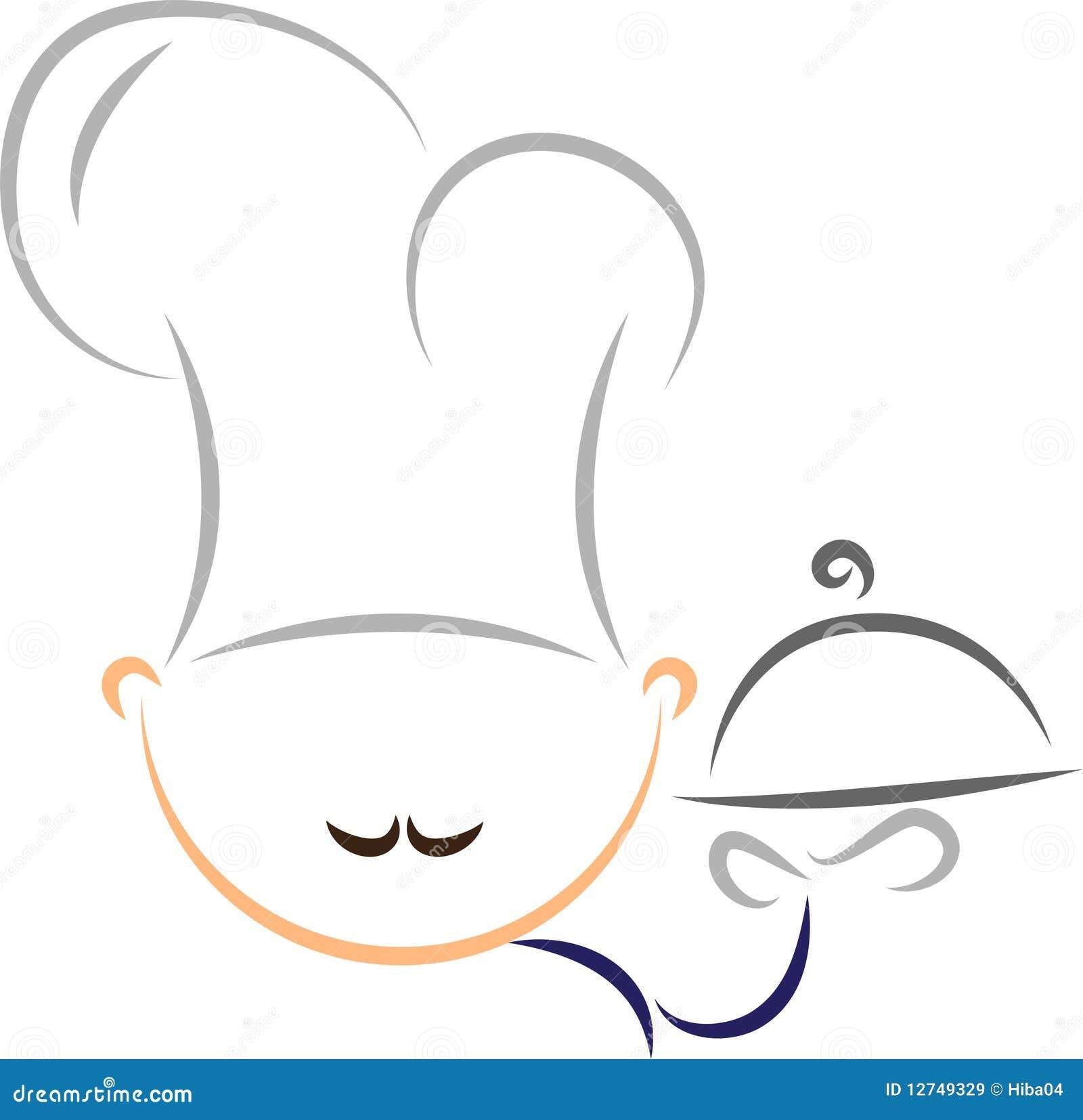 Cuoco unico stilizzato illustrazione vettoriale for Immagini vector