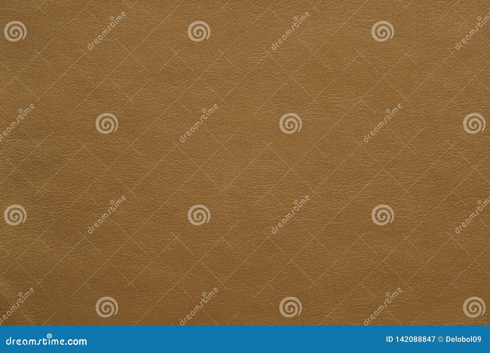 Cuoio colorato marrone chiaro del faux con una struttura fine
