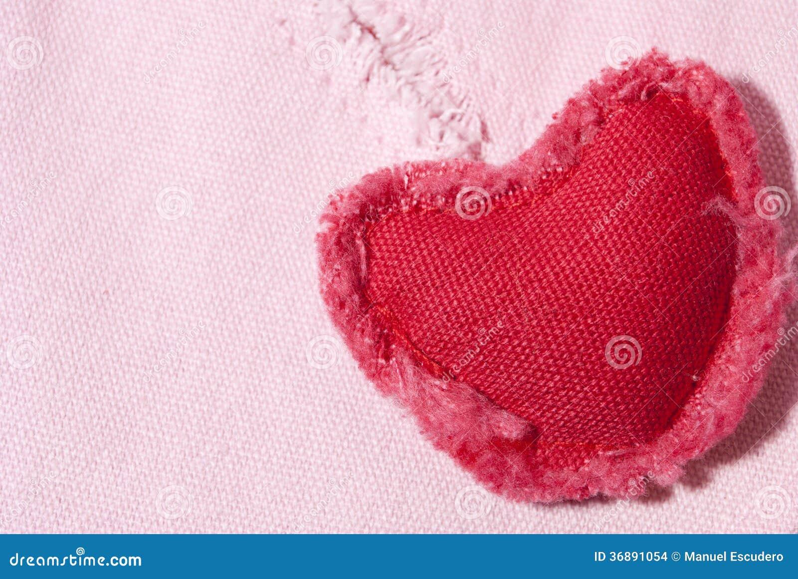 Download Cuore del tessuto. fotografia stock. Immagine di cuore - 36891054