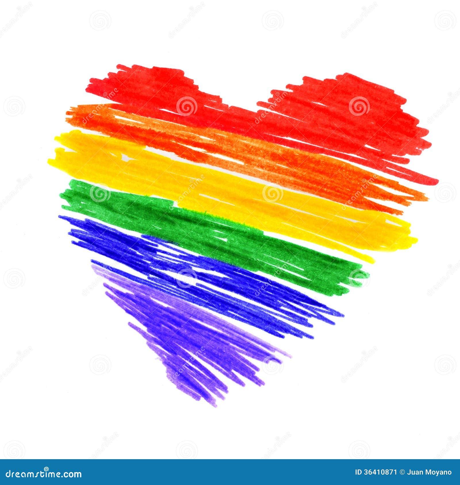 Cuore dell arcobaleno