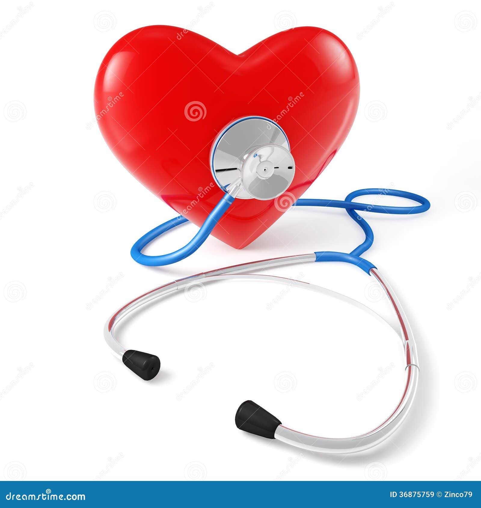 Download Cuore dello stetoscopio illustrazione di stock. Illustrazione di clinica - 36875759