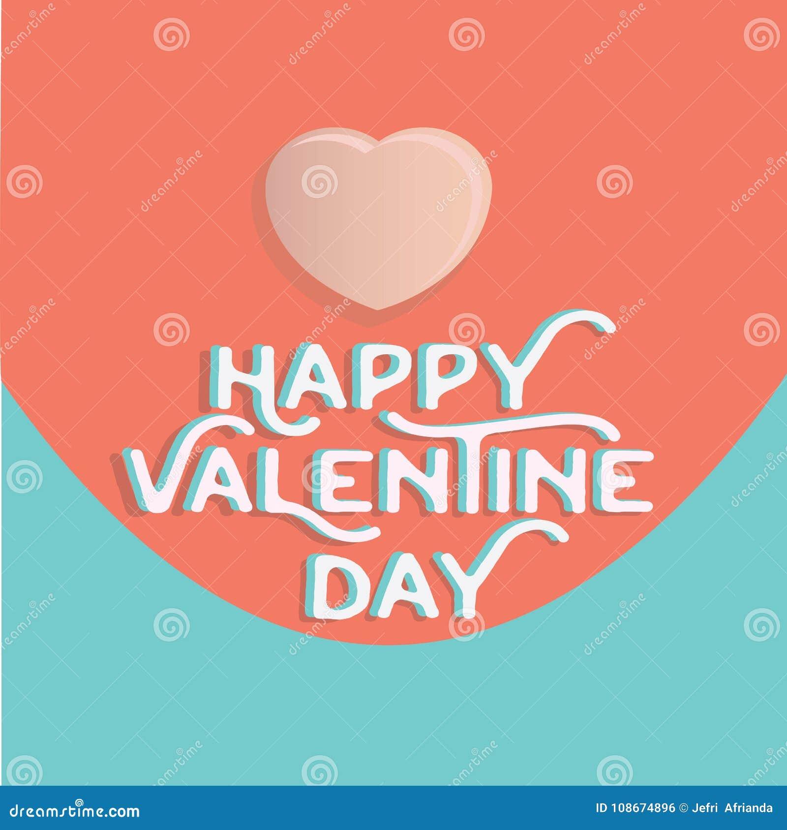 Cuore felice di giorno del ` s del biglietto di S. Valentino, accogliente il holid felice di giorno di S. Valentino