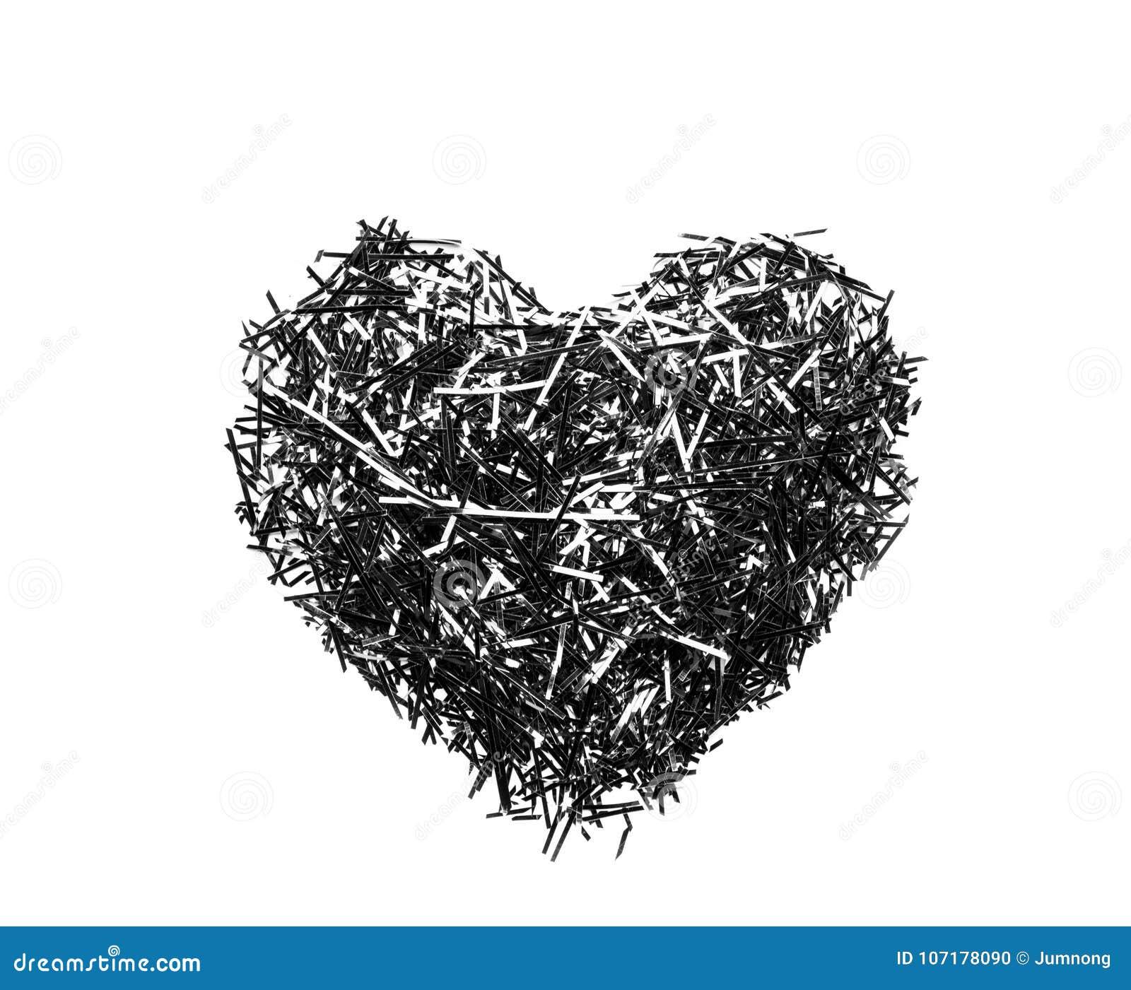 Cuore Nero Su Fondo Bianco Fotografia Stock Immagine Di Simbolo