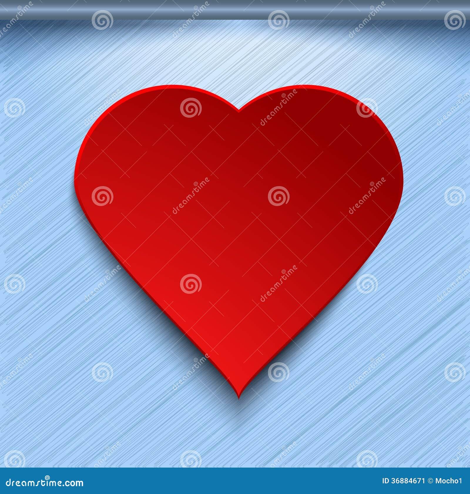 Download Cuore Rosso 3d Su Fondo Blu Illustrazione Vettoriale - Illustrazione di illumini, emozioni: 36884671