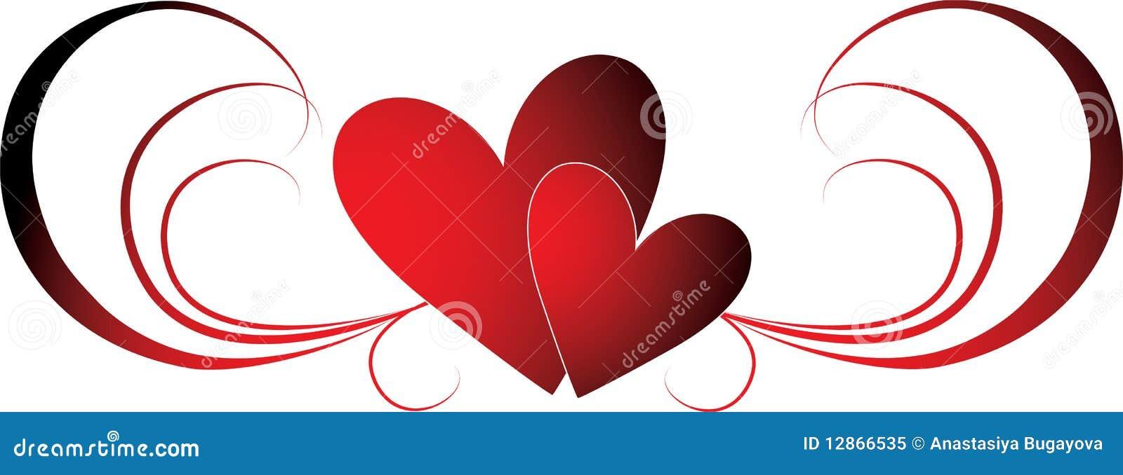 Cuori dei biglietti di S. Valentino