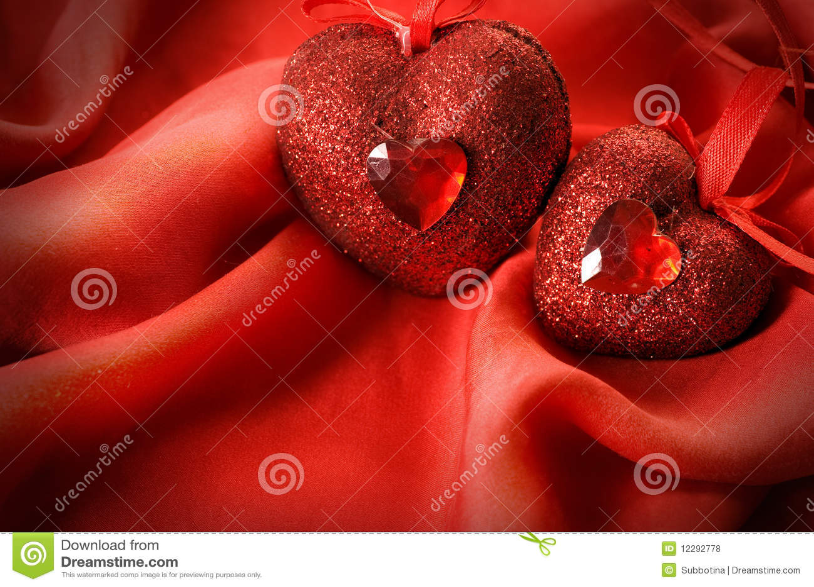 Cuori del biglietto di S. Valentino